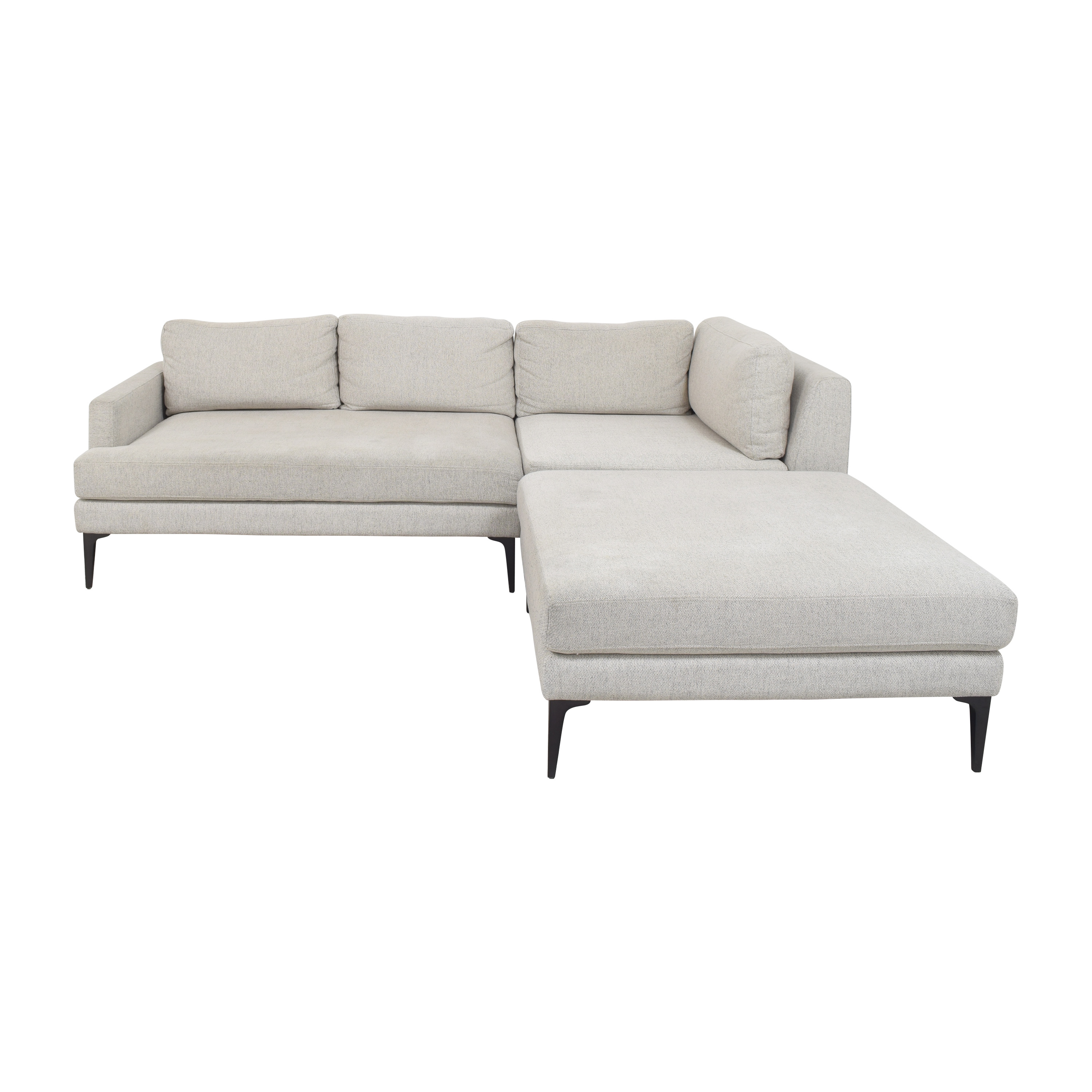 shop West Elm West Elm Andes Three Piece Chaise Sectional Sofa online