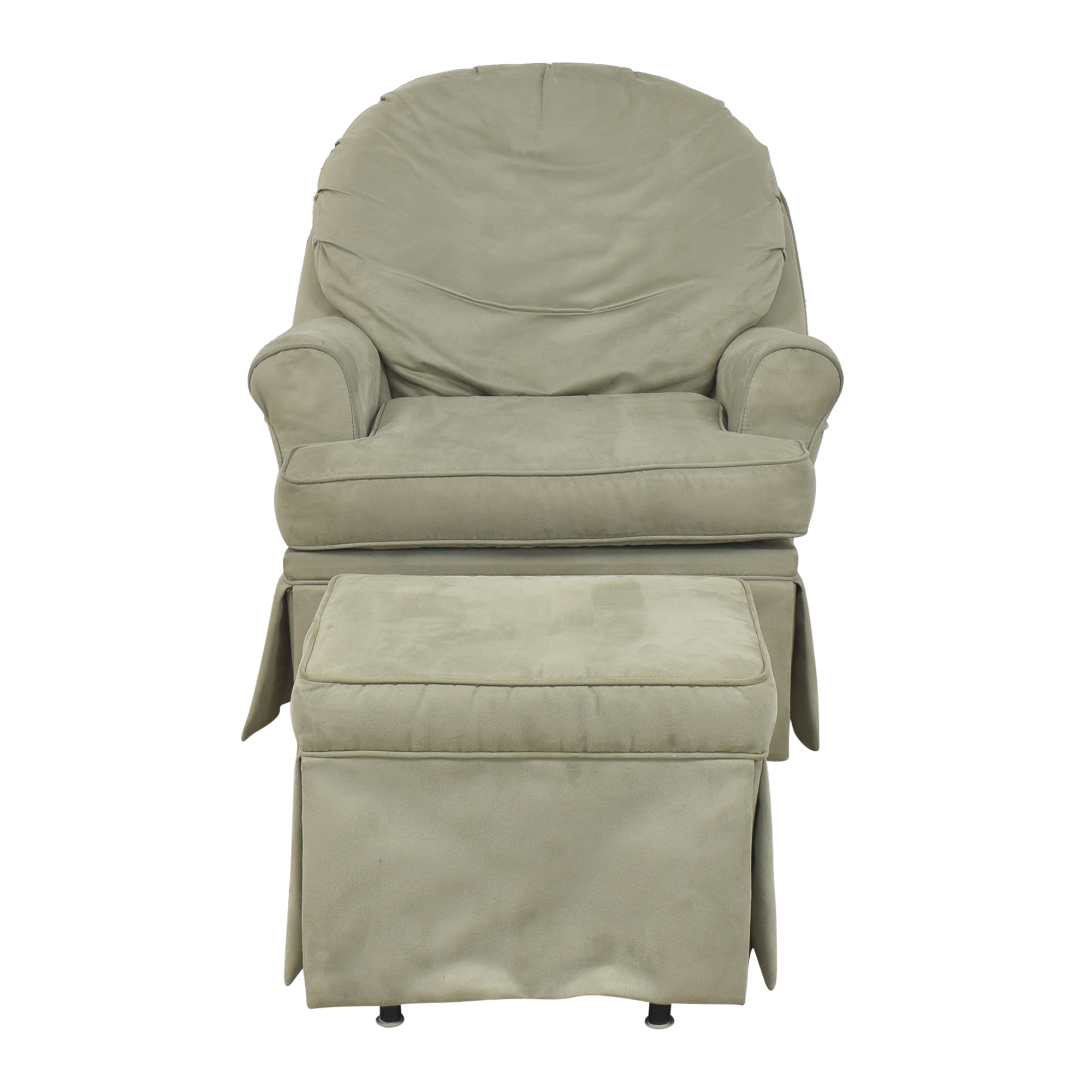 Dutailier Dutailier Upholstered Glider with Ottoman pa