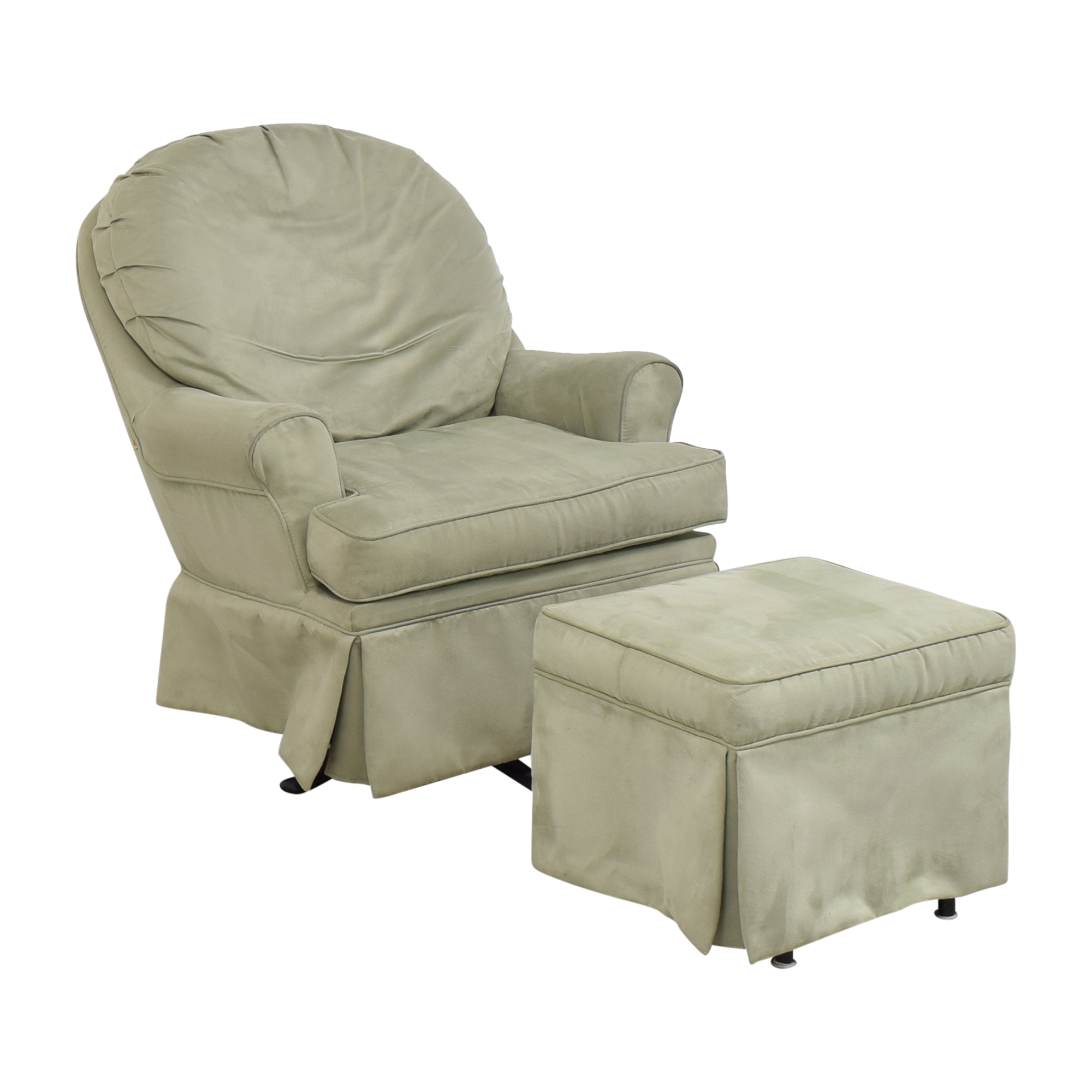 shop Dutailier Upholstered Glider with Ottoman Dutailier Chairs