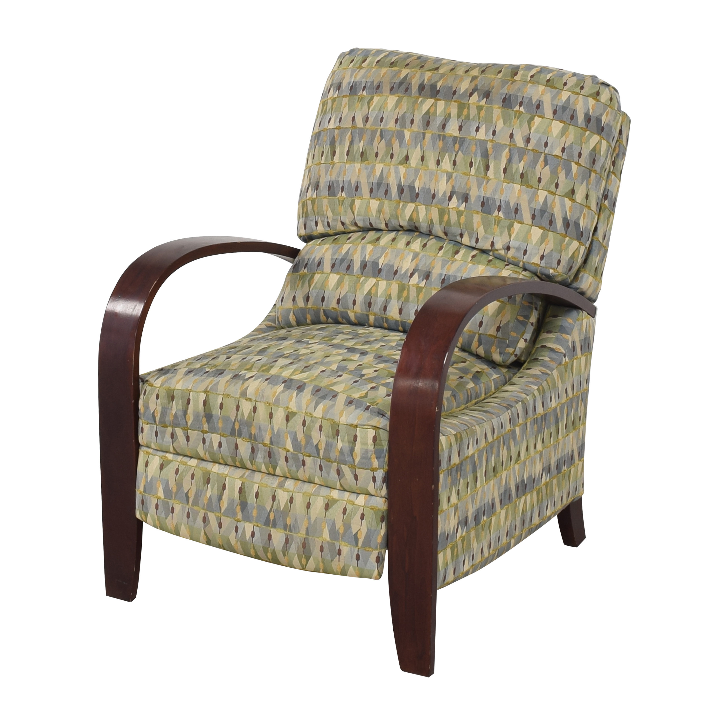 Raymour & Flanigan Raymour & Flanigan Patterned Recliner for sale