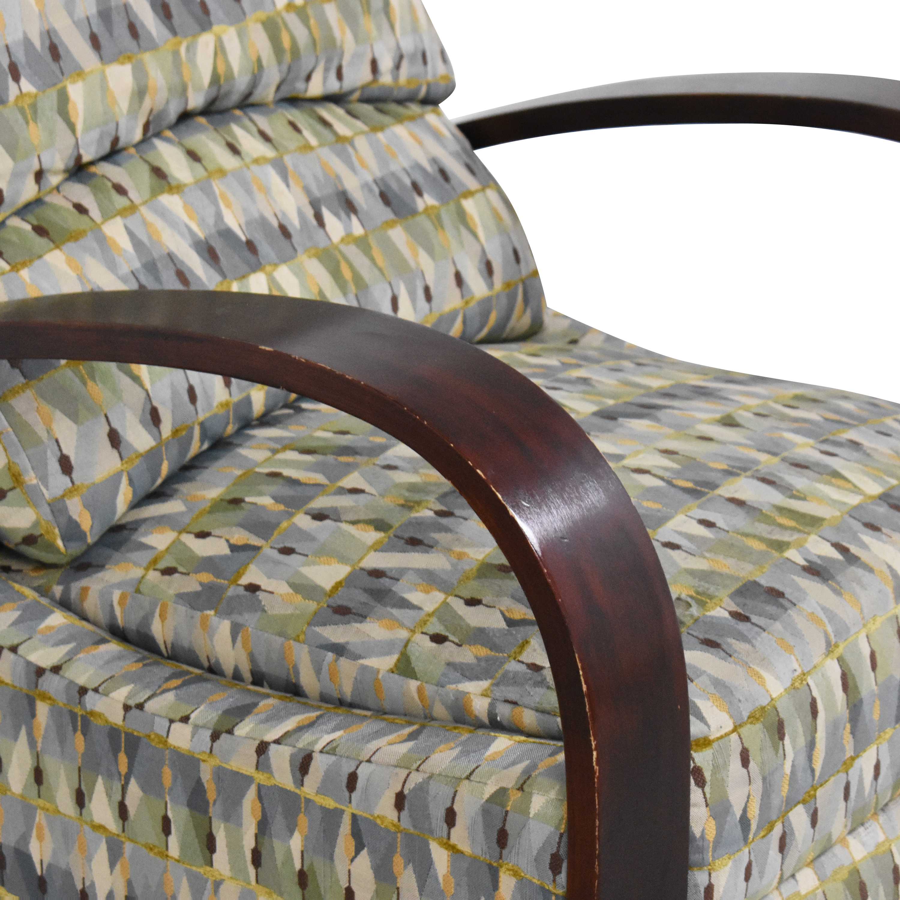 Raymour & Flanigan Raymour & Flanigan Patterned Recliner on sale