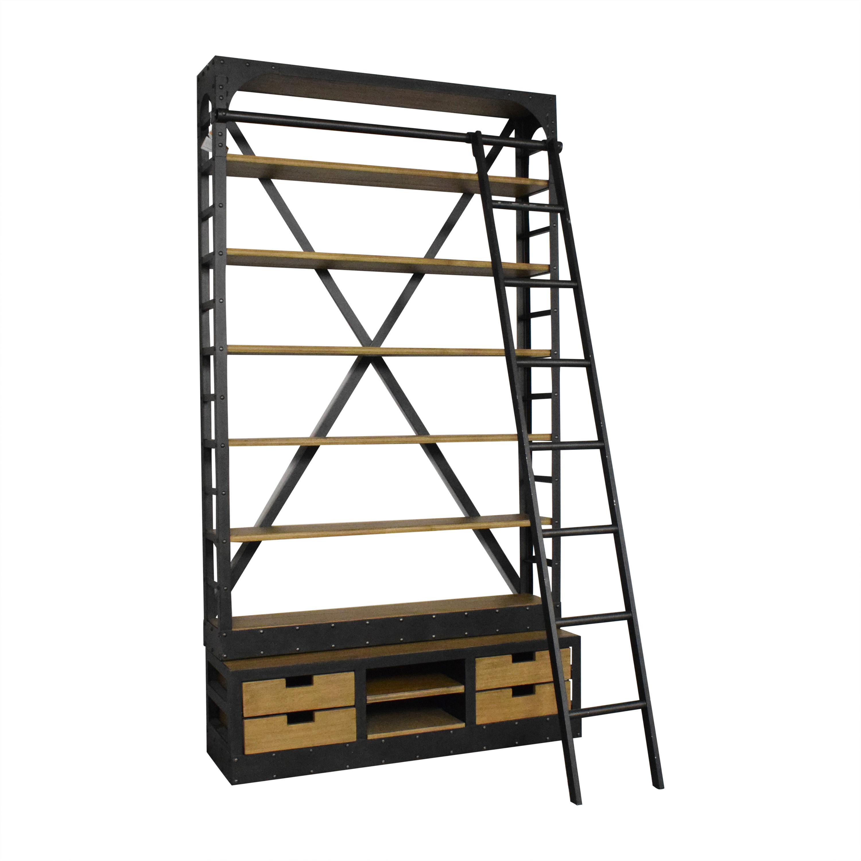 Restoration Hardware 1950s Dutch Shipyard Triple Shelving / Bookcases & Shelving