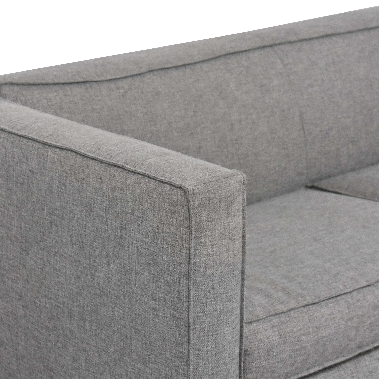 CB2 CB2 Club Two Cushion Sofa nyc