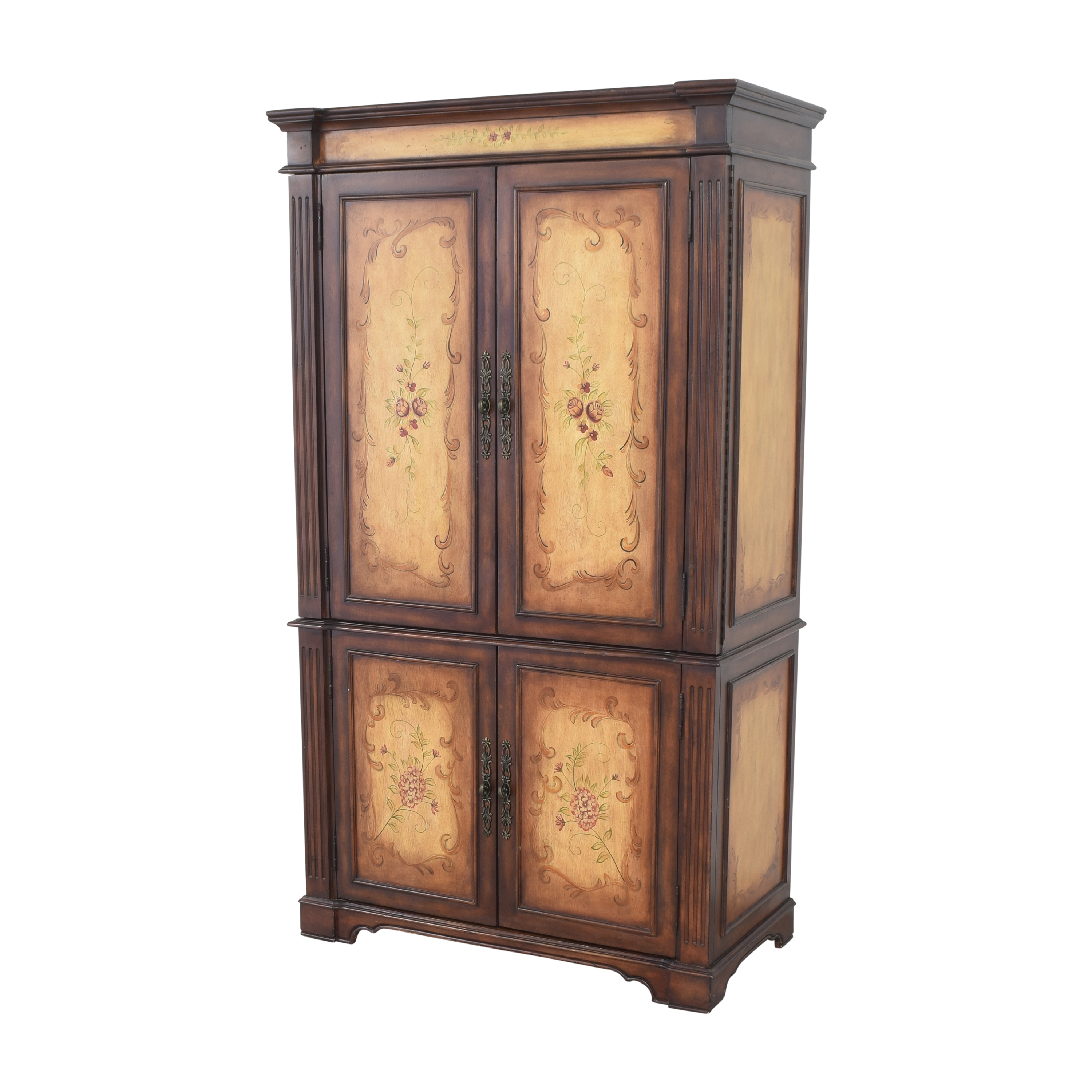 Raymour & Flanigan Raymour & Flanigan Painted Media Armoire Wardrobes & Armoires