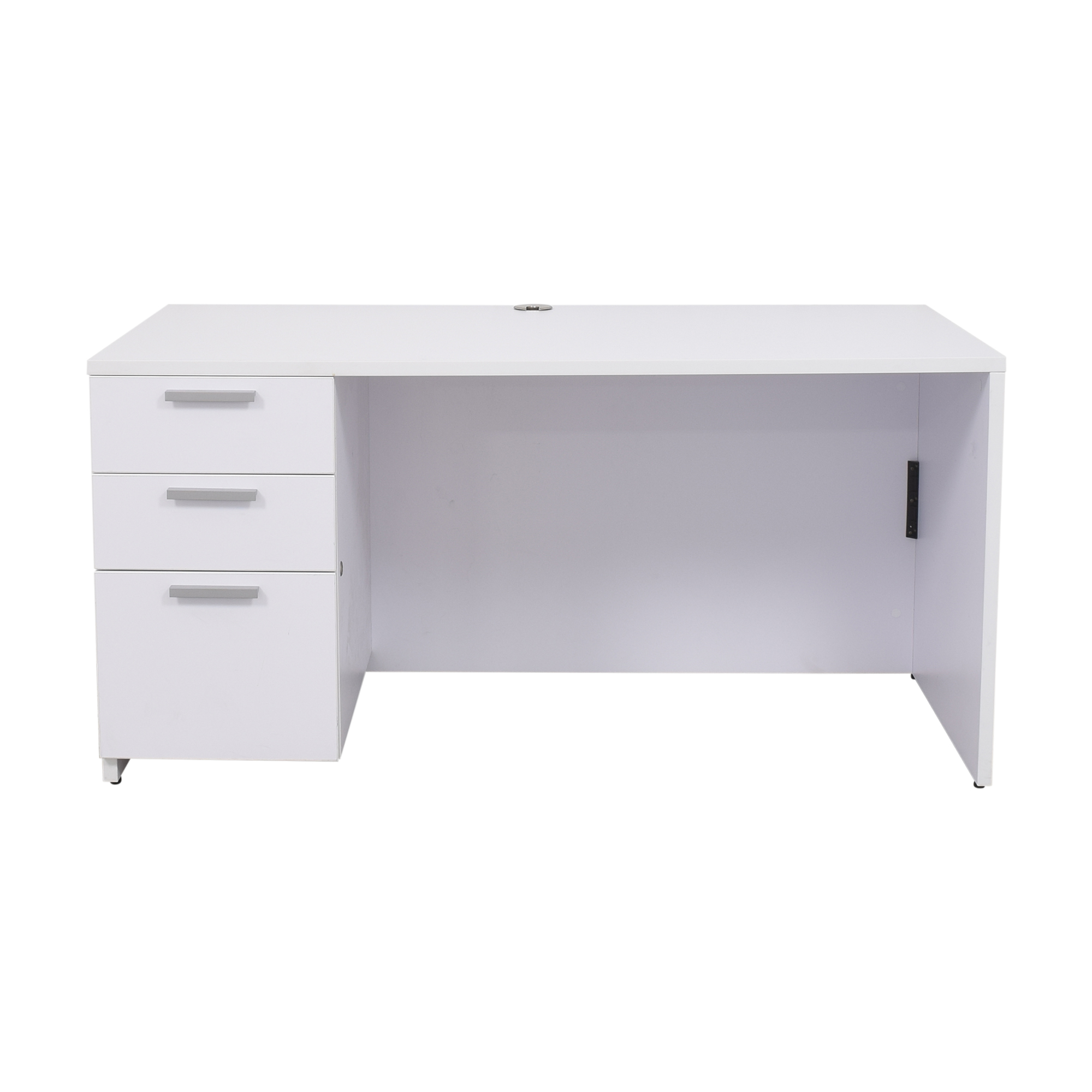 buy Steelcase Currency Single Pedestal Desk Steelcase Tables