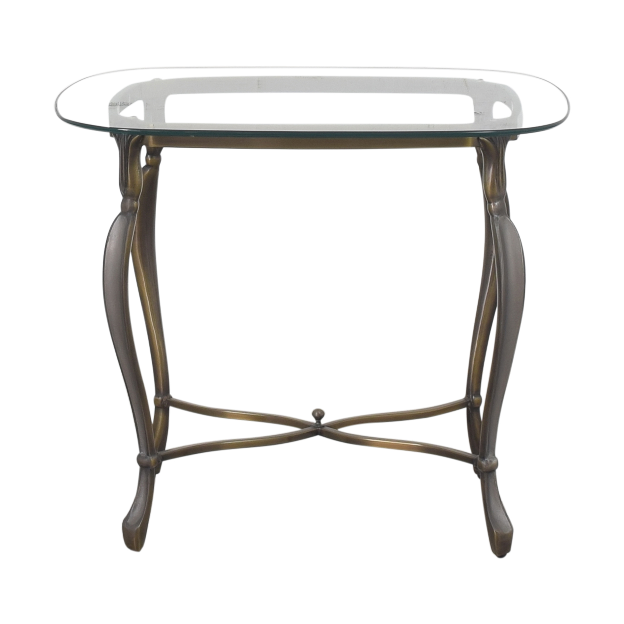 Rounded Rectangular End Table End Tables