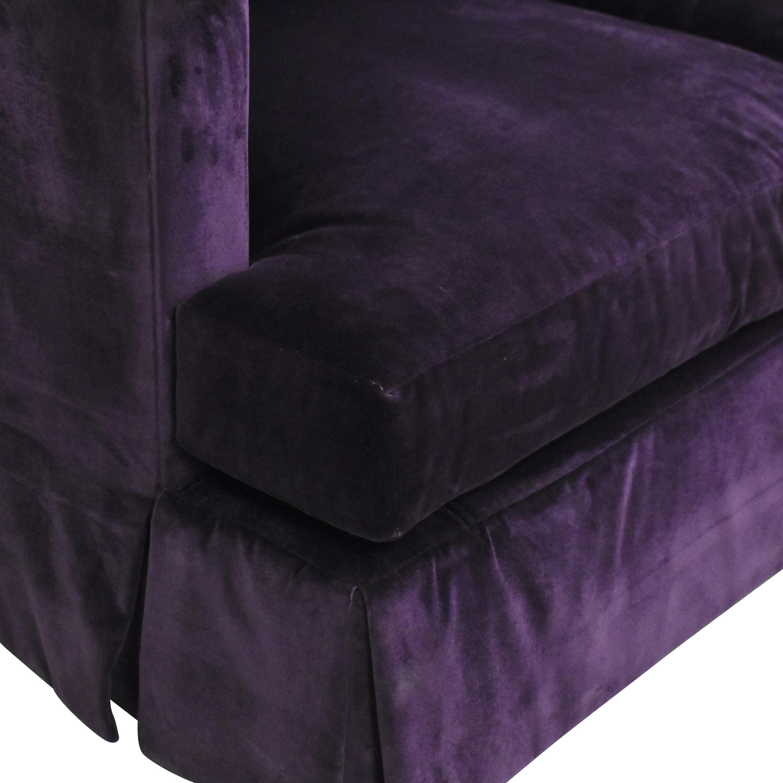 Henredon Furniture Henredon Furniture by Barbara Barry Three Cushion Sofa dark purple