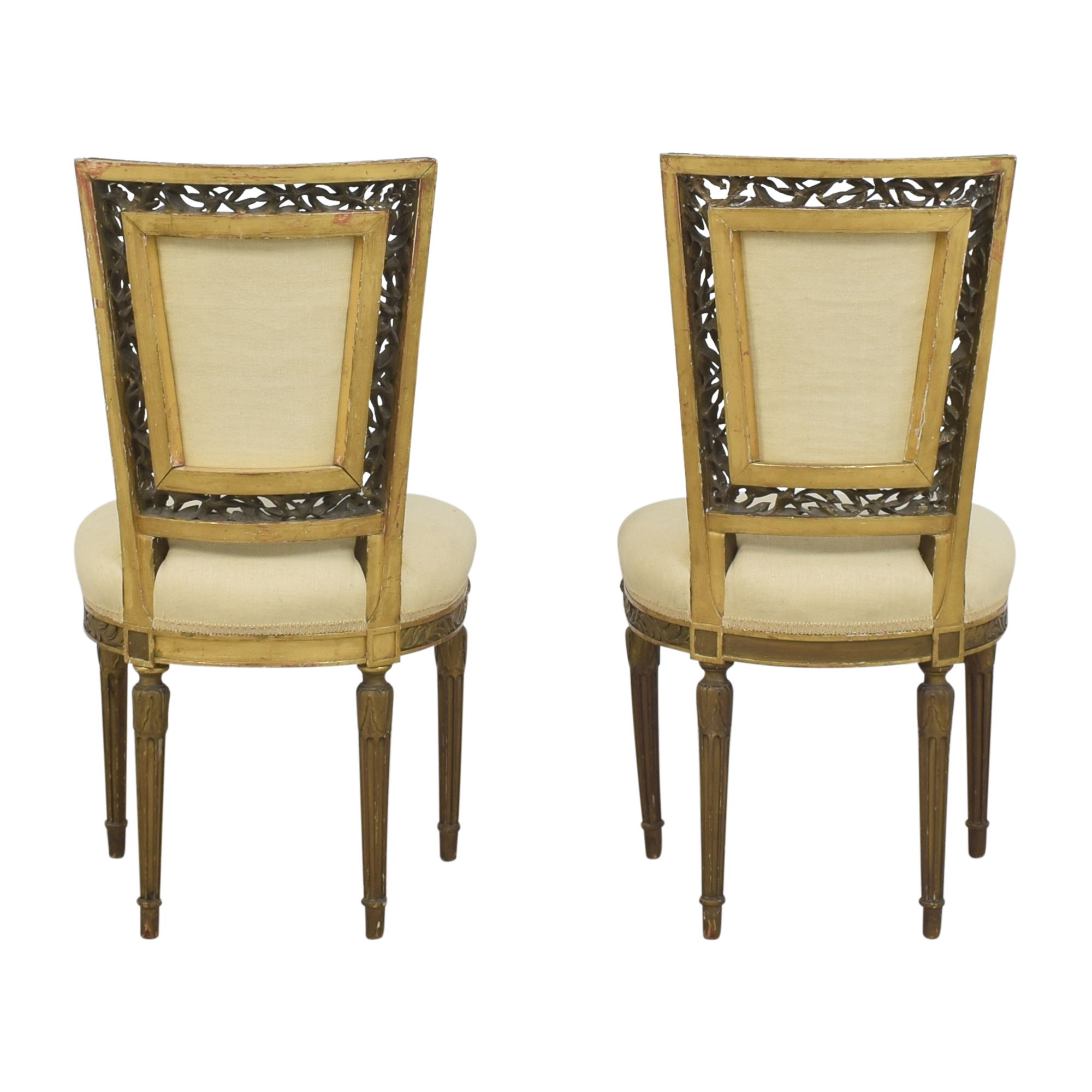 Louis XVI Style Accent Chairs dimensions