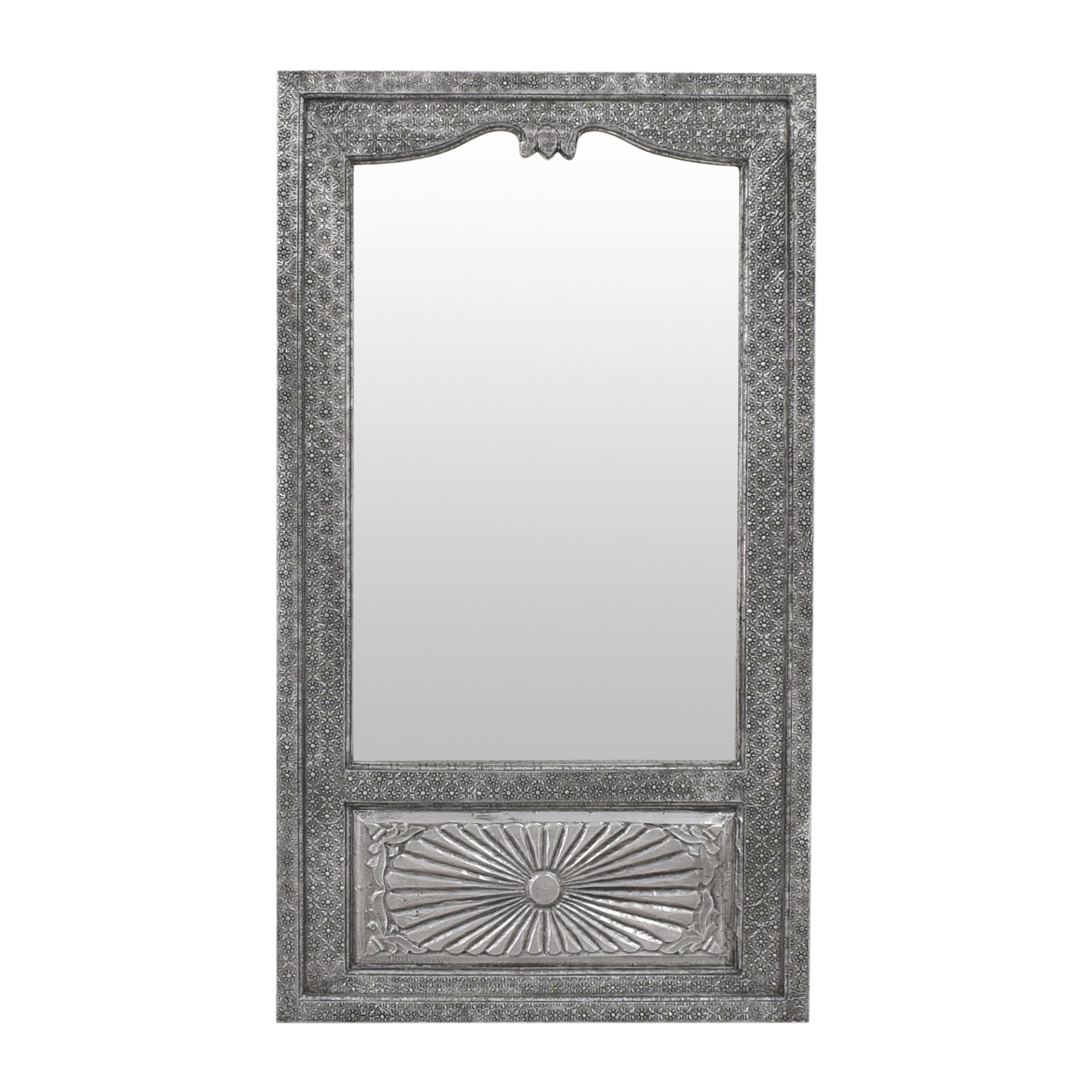 Arhaus Arhaus Moroccan-Style Wall Mirror silver