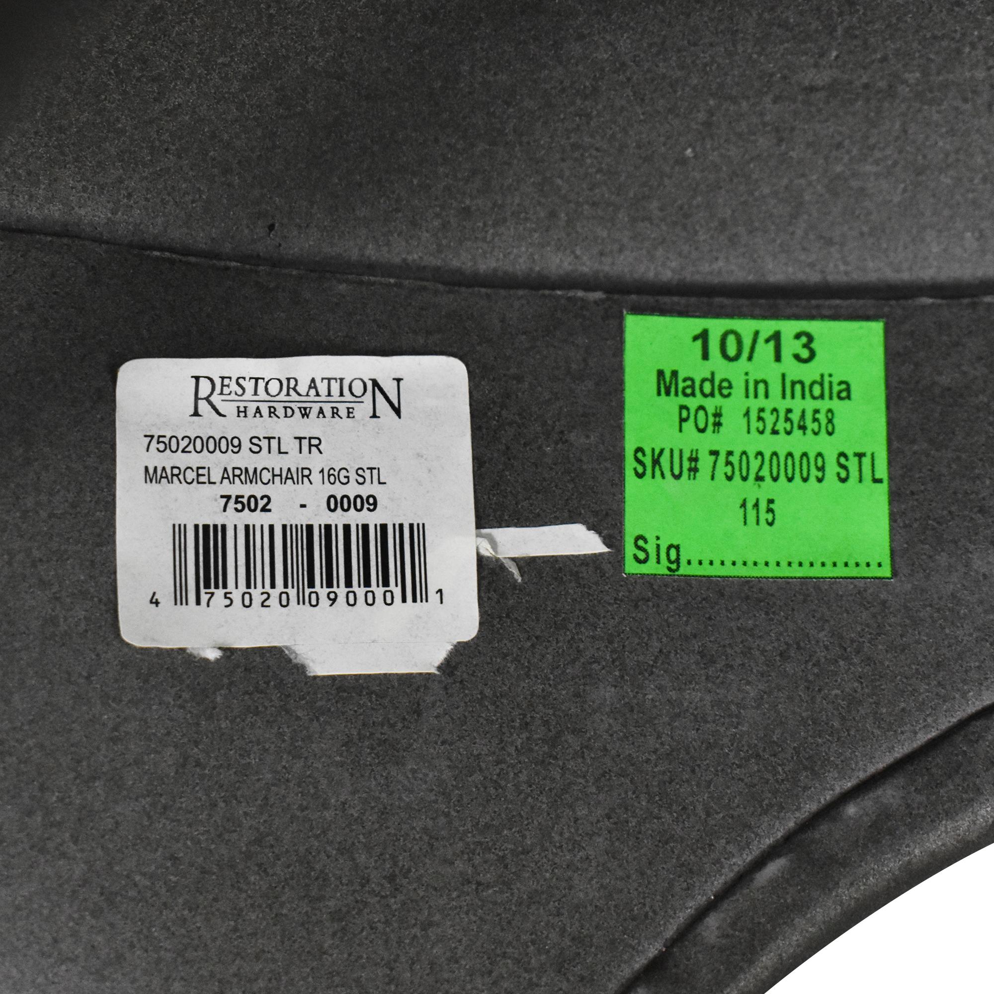 Restoration Hardware Restoration Hardware Marcel Modern Armchairs discount