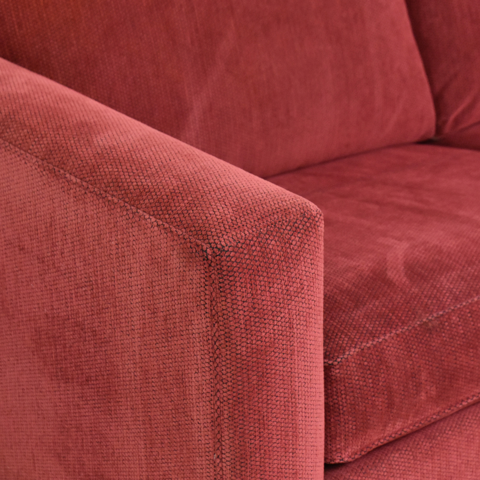 Ethan Allen Ethan Allen Hampton Queen Sleeper Sofa red