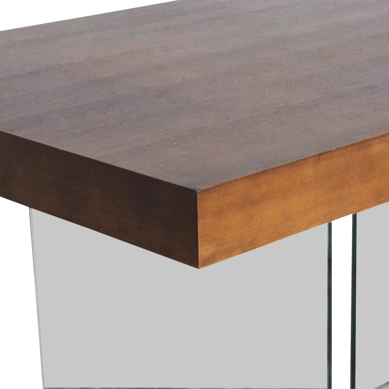 shop Wayfair Brayden Studio Perrone Transparent Base Dining Table Brayden Studio Tables