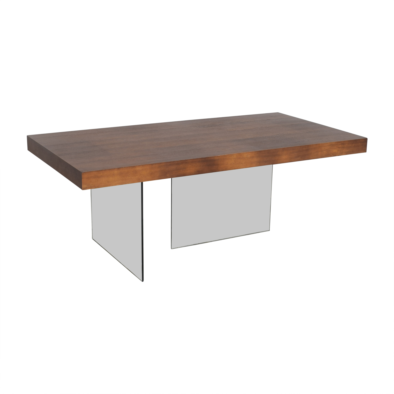 buy Wayfair Brayden Studio Perrone Transparent Base Dining Table Brayden Studio Dinner Tables