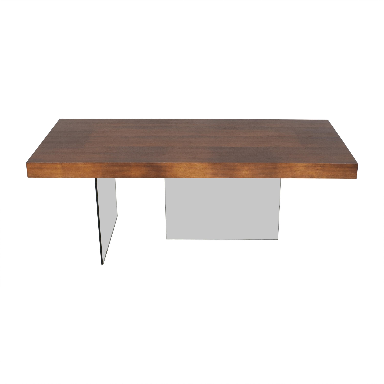 Brayden Studio Wayfair Brayden Studio Perrone Transparent Base Dining Table nj