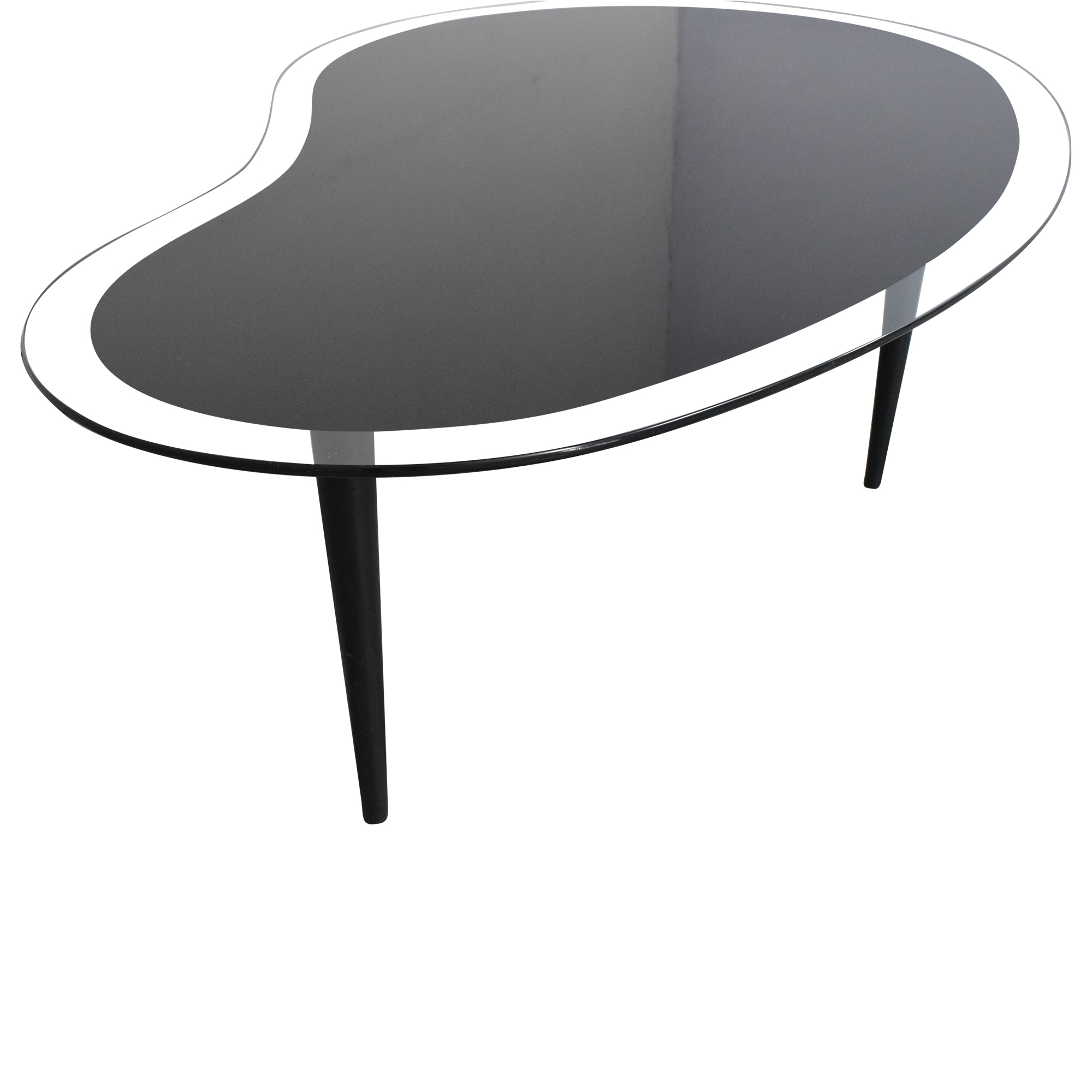 Vintage Kidney Shaped Coffee Table / Tables