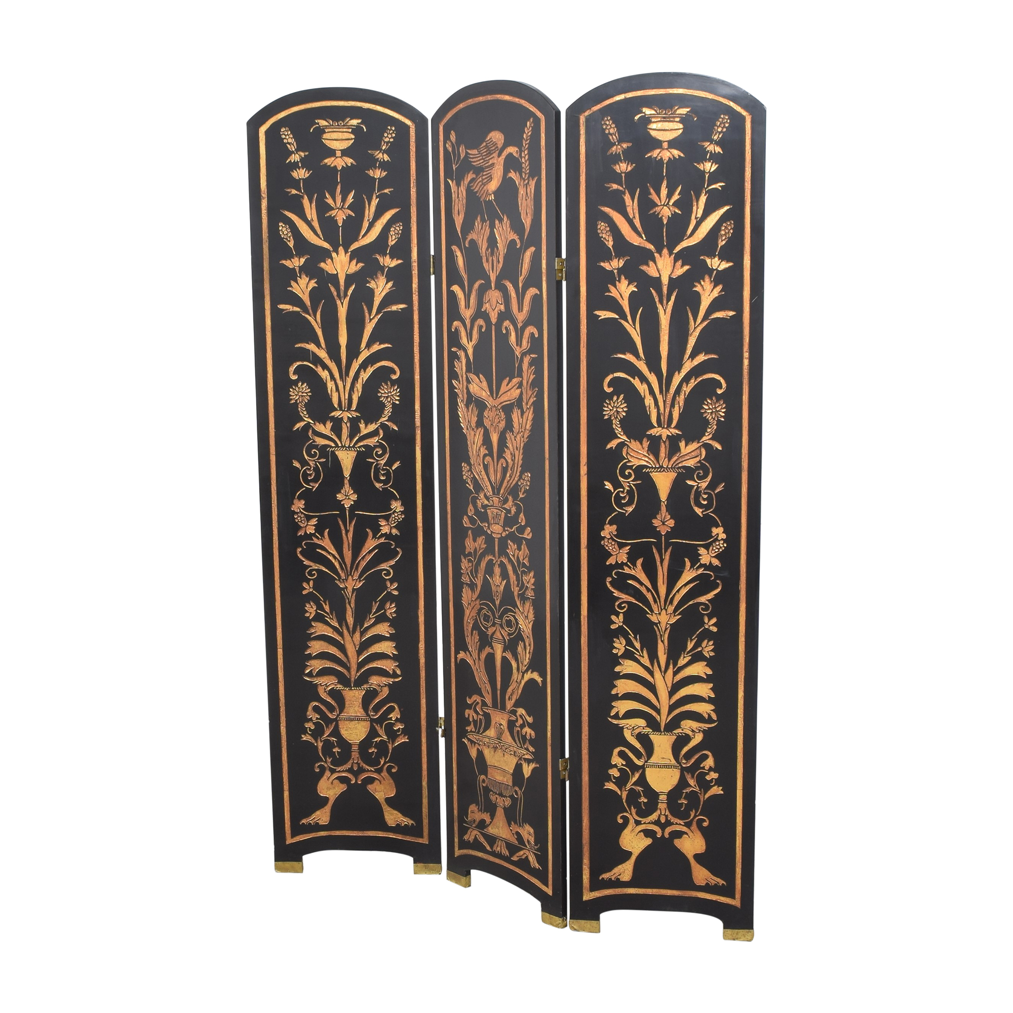 Vintage Three Panel Folding Screen ct