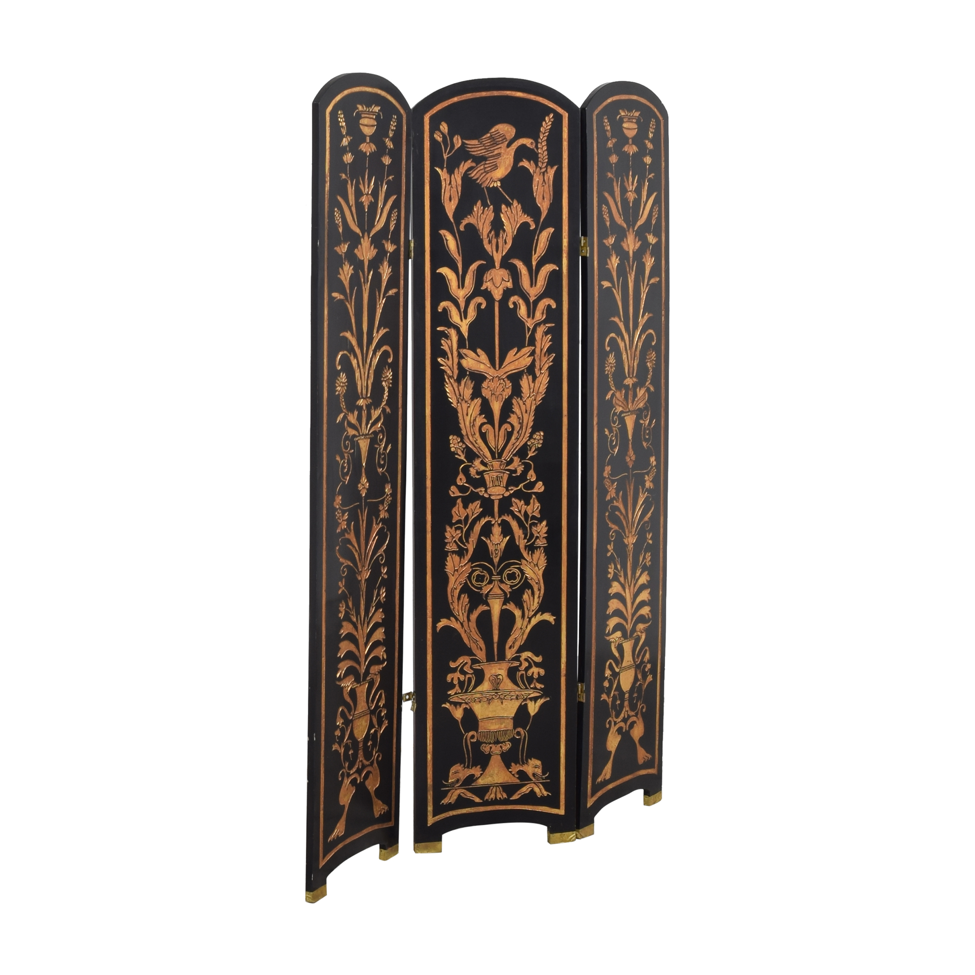 Vintage Three Panel Folding Screen pa