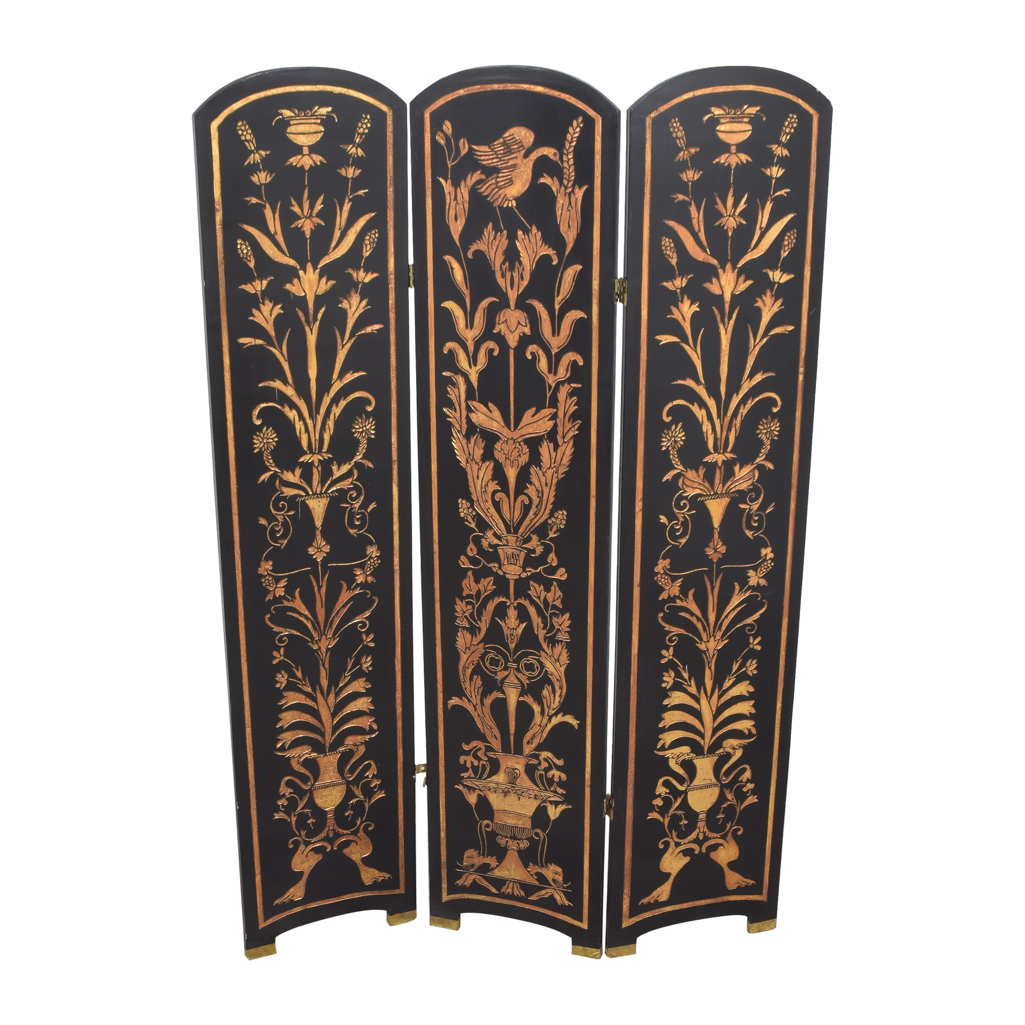 Vintage Three Panel Folding Screen coupon