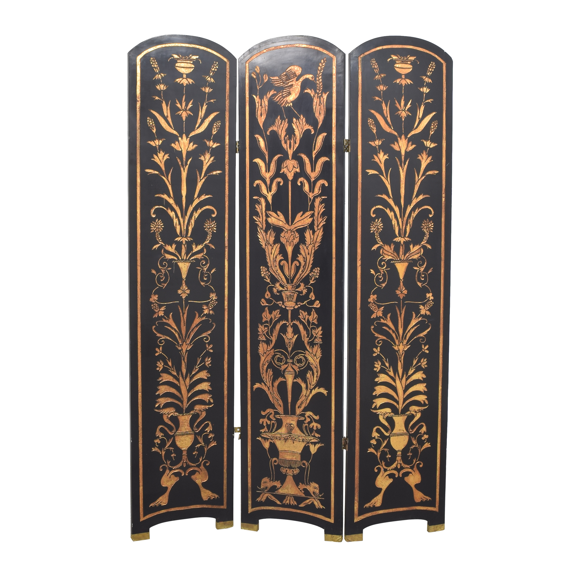 Vintage Three Panel Folding Screen / Dividers