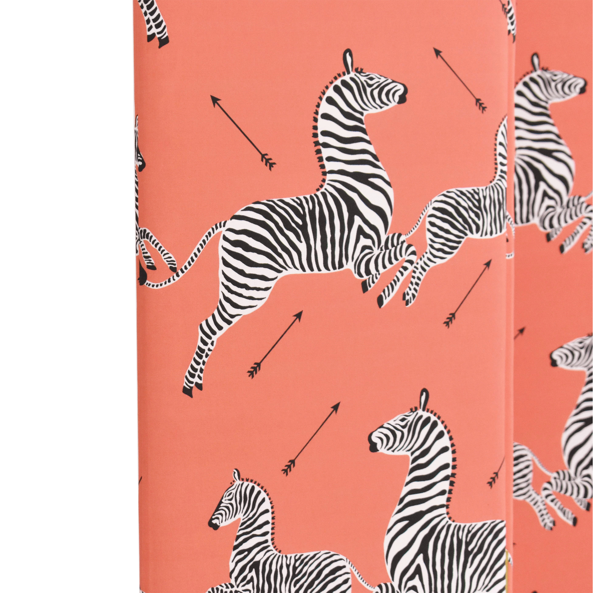 buy The Inside Coral Zebra Scalloped Screen The Inside Dividers