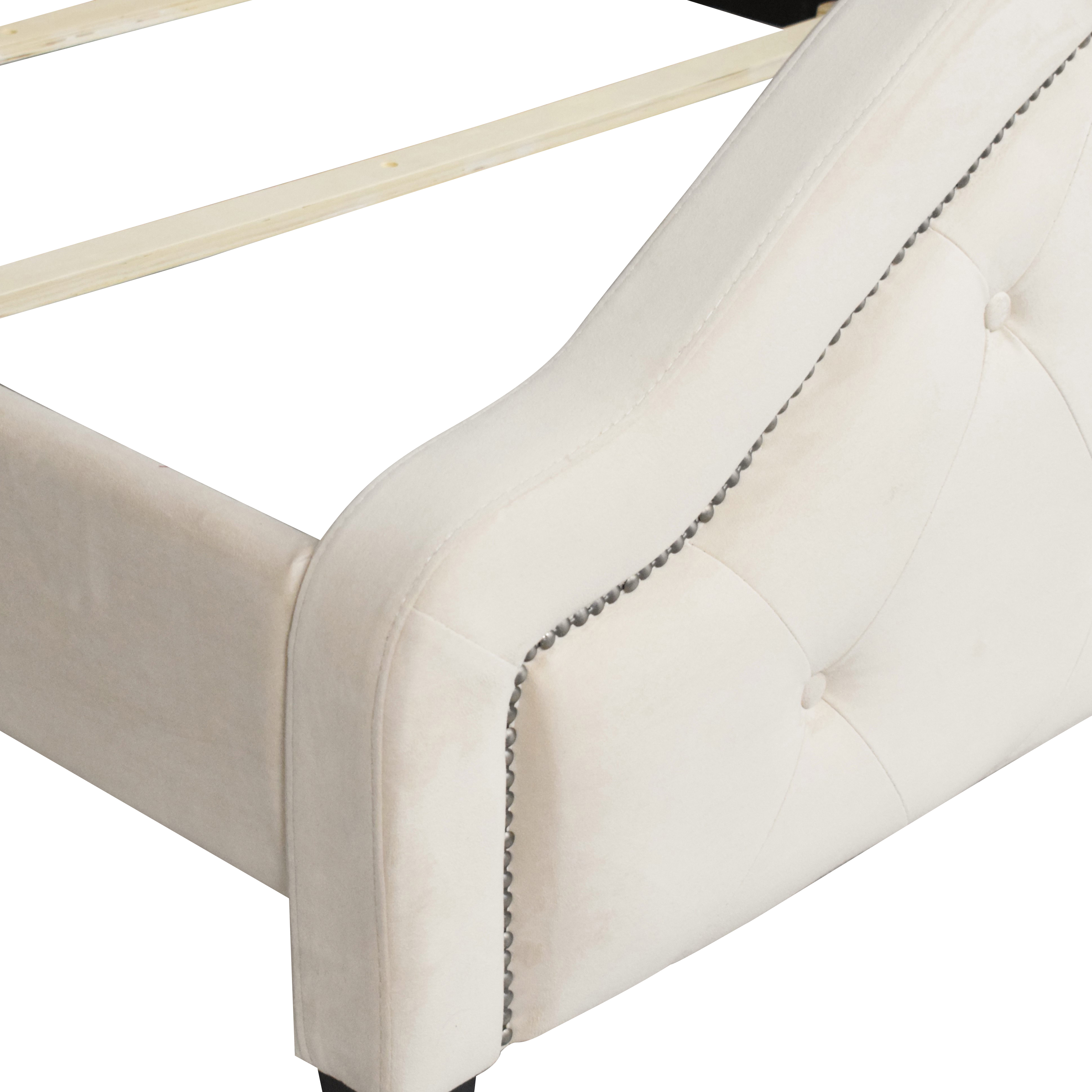 shop Raymour & Flanigan Bowman Tufted Full Bed Raymour & Flanigan Beds