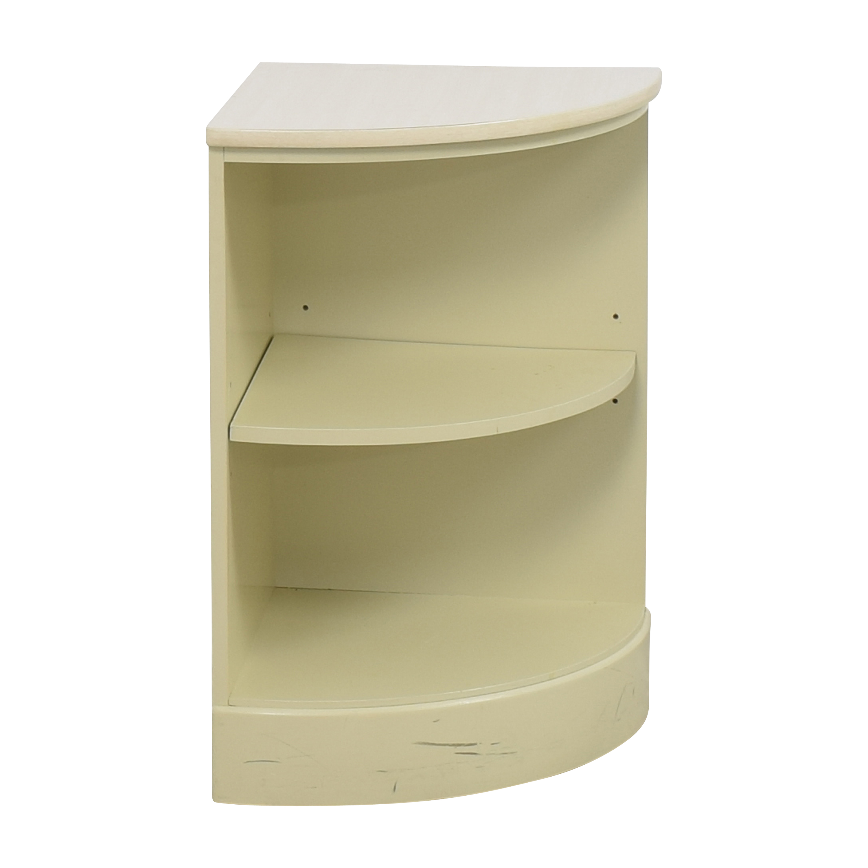 buy Ethan Allen Rounded Corner Shelf Ethan Allen Bookcases & Shelving