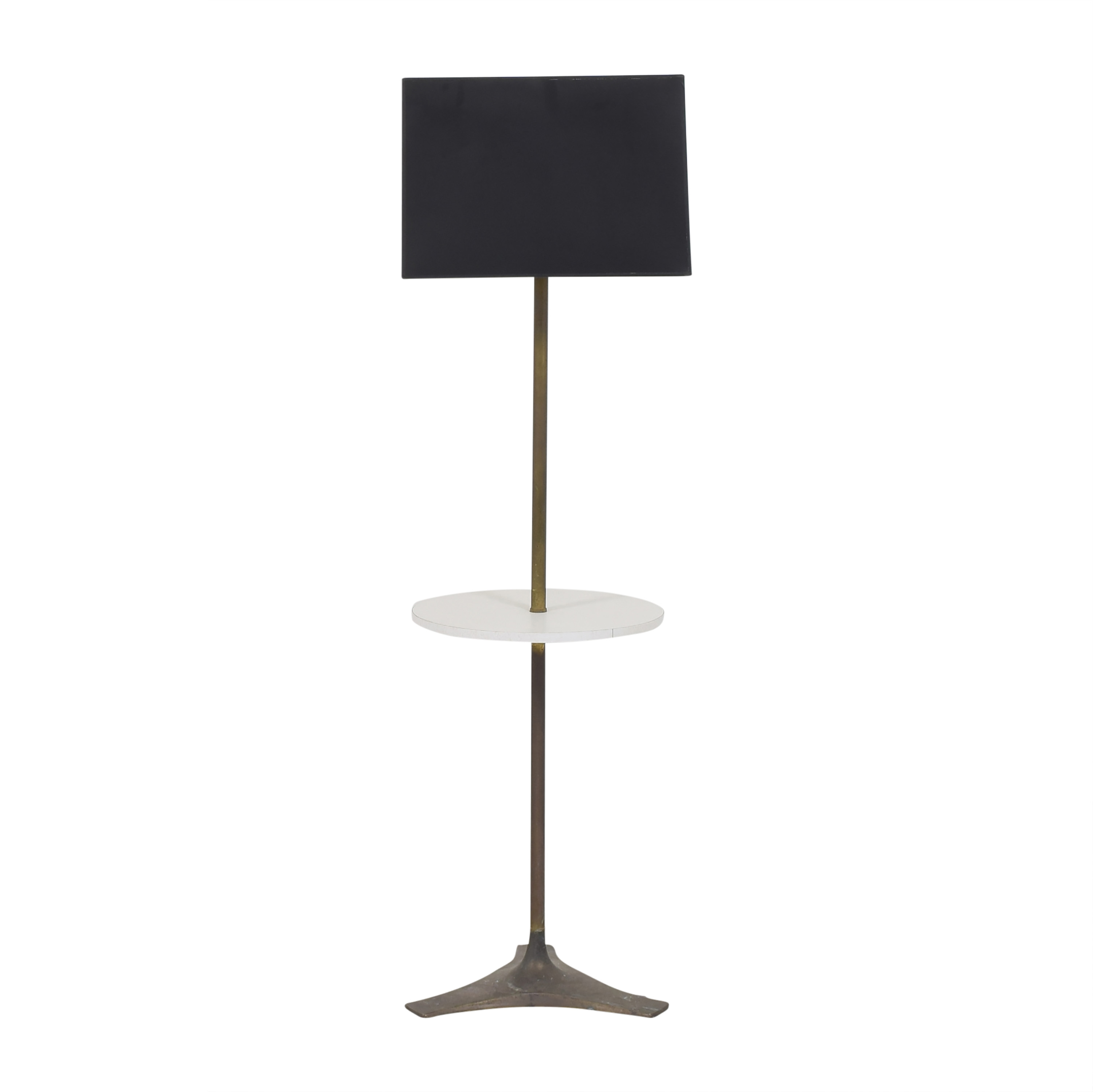 Vintage Tray Table Floor Lamp pa