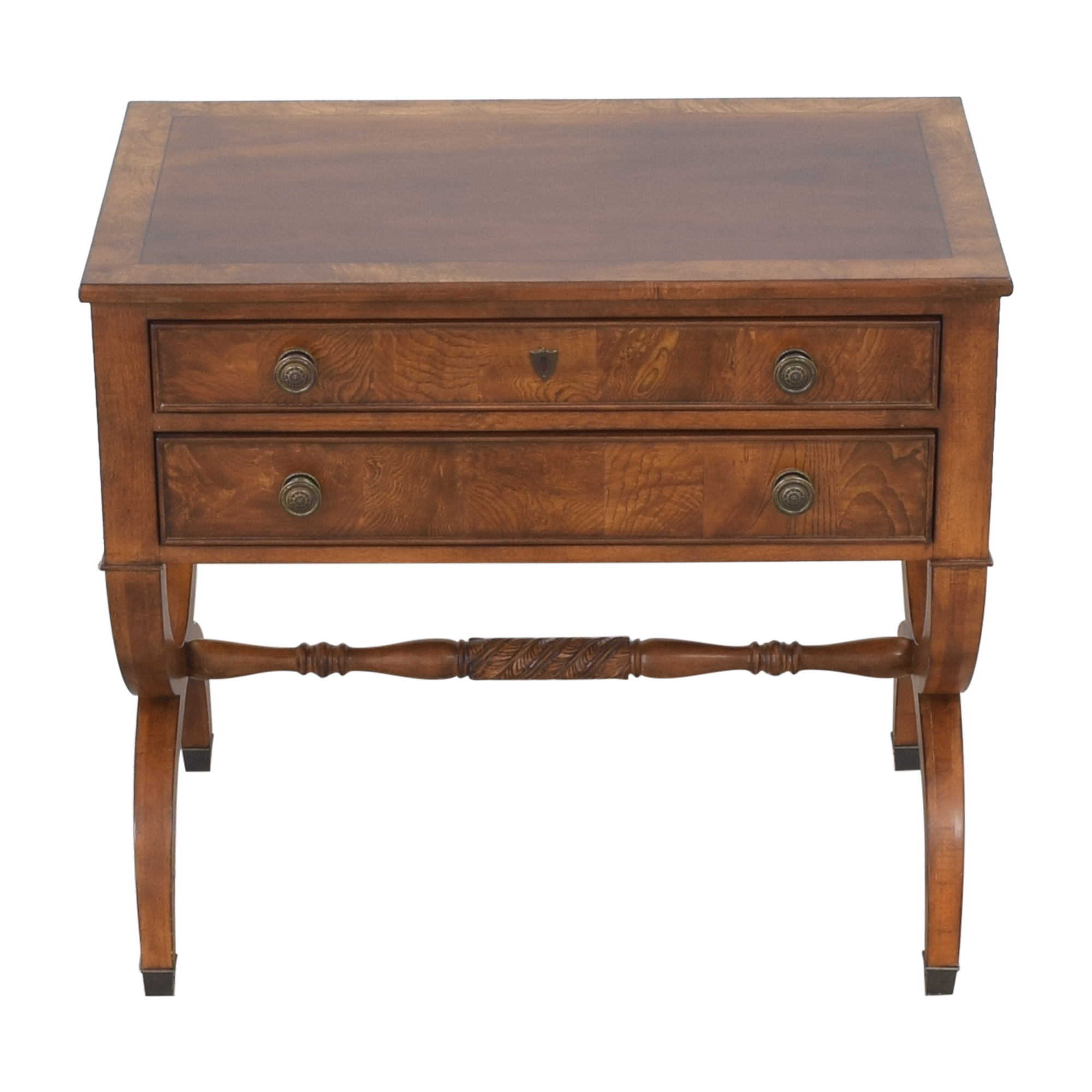 Ethan Allen Ethan Allen Two Drawer Accent Table discount