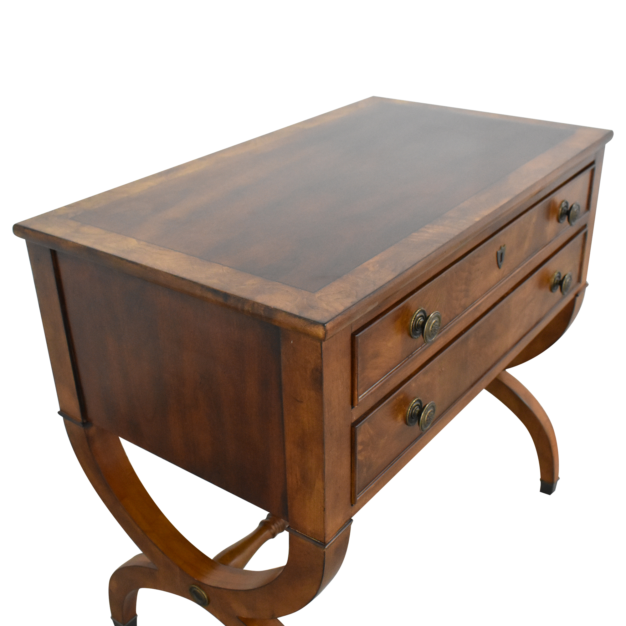 Ethan Allen Ethan Allen Two Drawer Accent Table nj