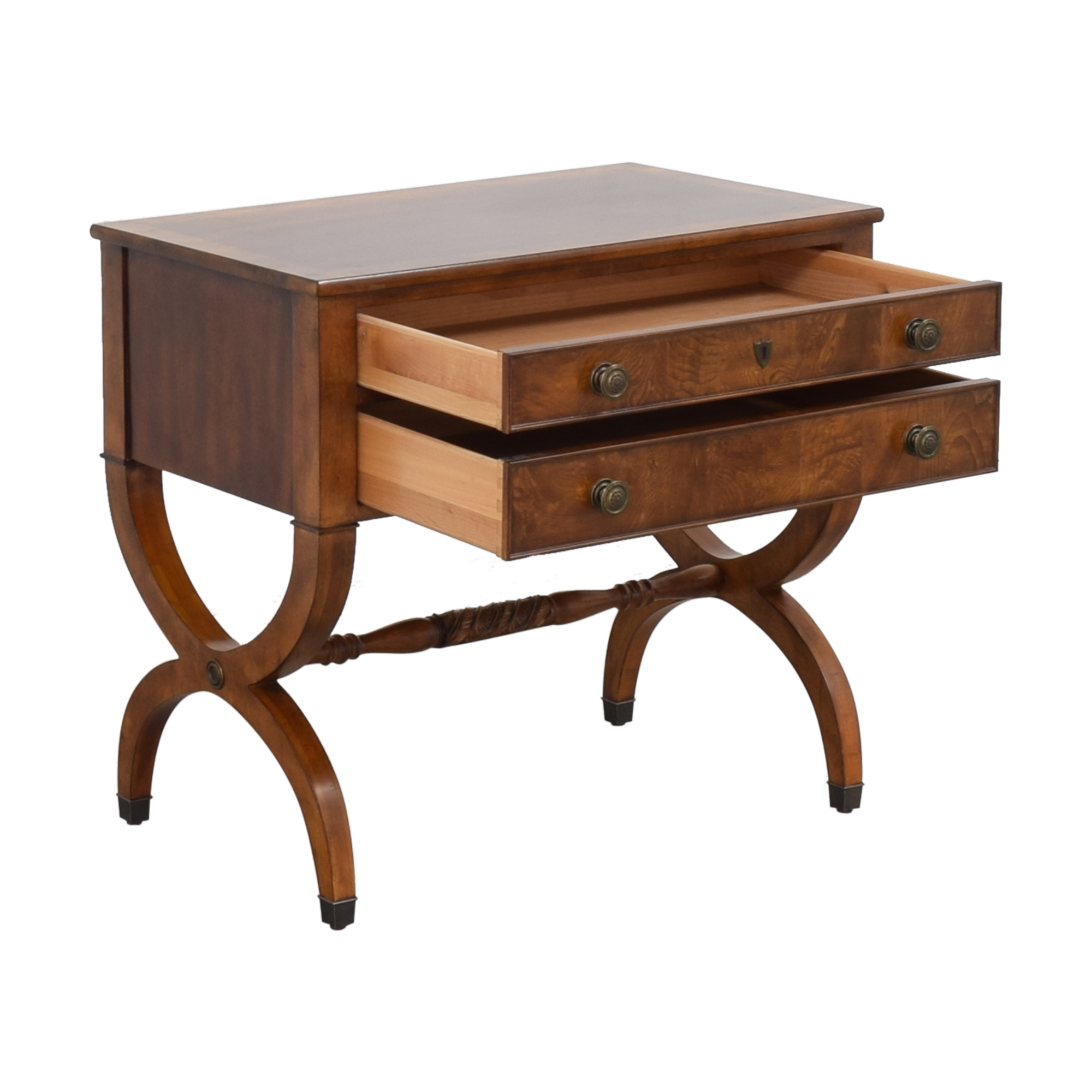 Ethan Allen Ethan Allen Two Drawer Accent Table pa