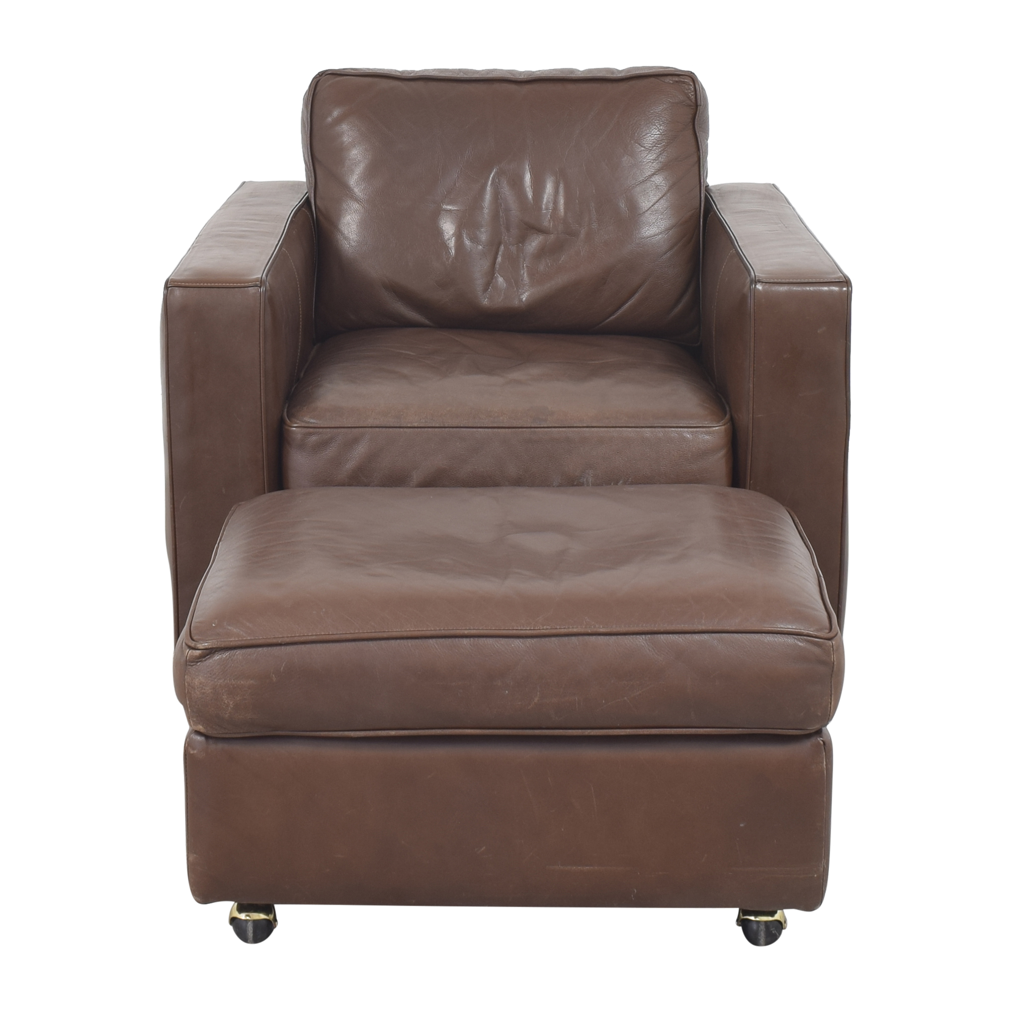 Room & Board Accent Chair with Ottoman Room & Board