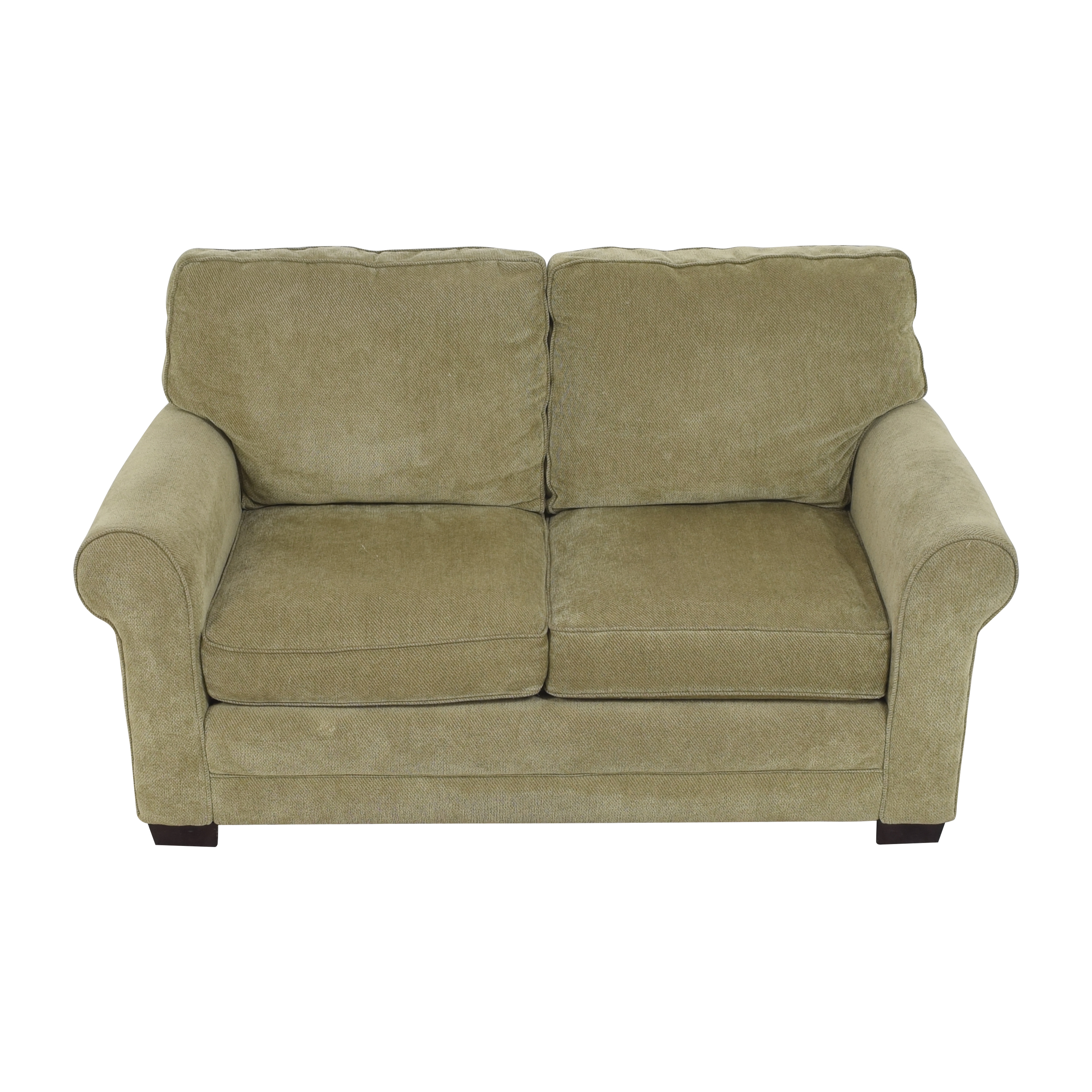 Raymour & Flanigan Raymour & Flanigan Roll Arm Loveseat ct
