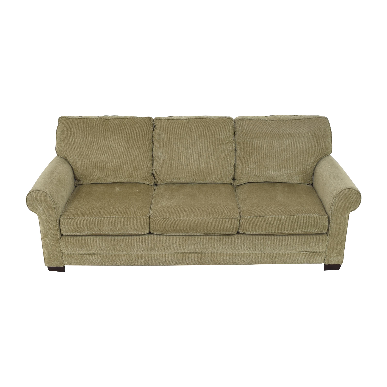 Raymour & Flanigan Raymour & Flanigan Three Cushion Roll Arm Sofa nyc