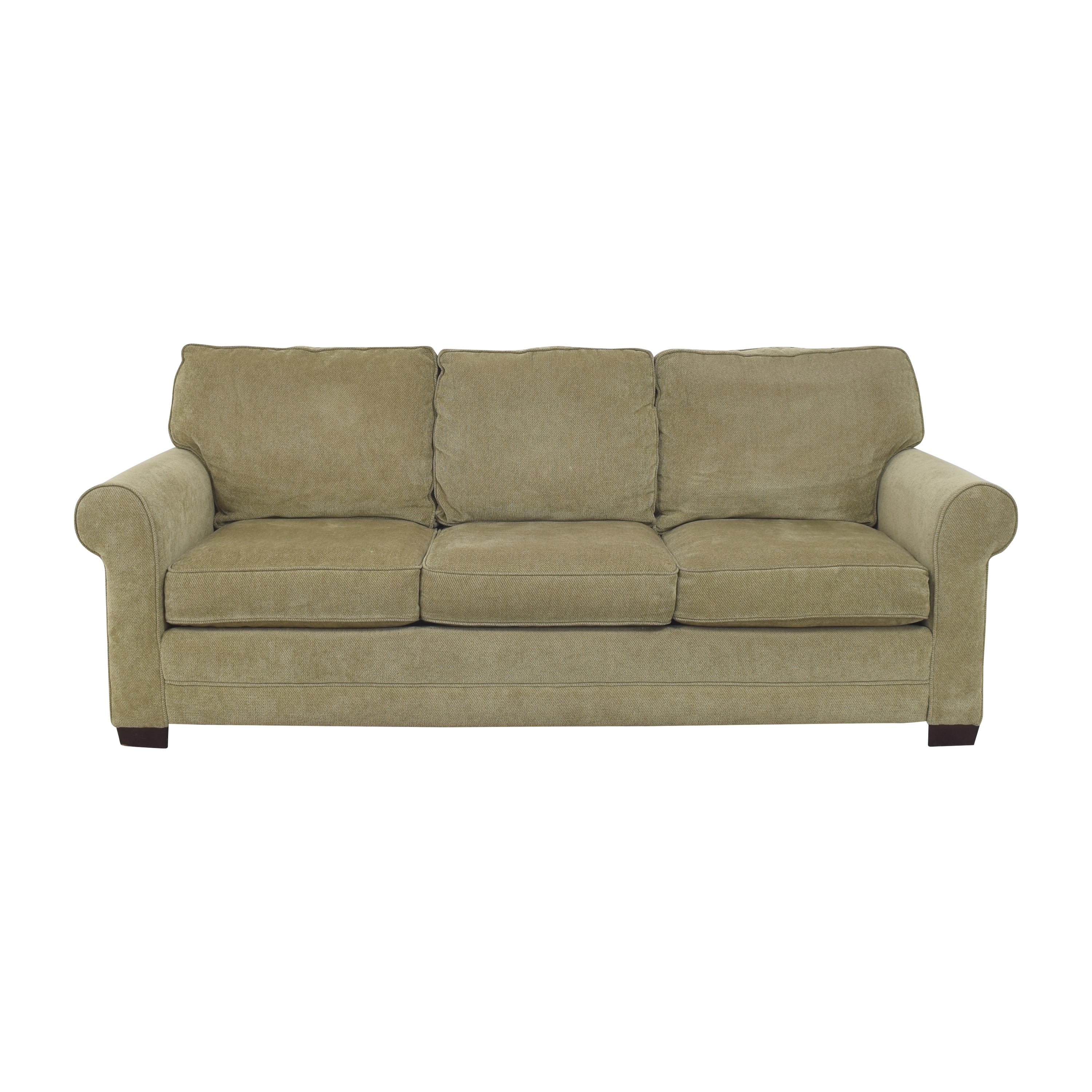 shop Raymour & Flanigan Raymour & Flanigan Three Cushion Roll Arm Sofa online