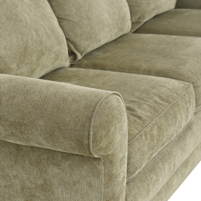 Raymour & Flanigan Raymour & Flanigan Three Cushion Roll Arm Sofa on sale