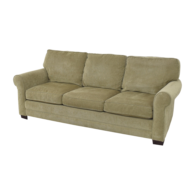 buy Raymour & Flanigan Three Cushion Roll Arm Sofa Raymour & Flanigan