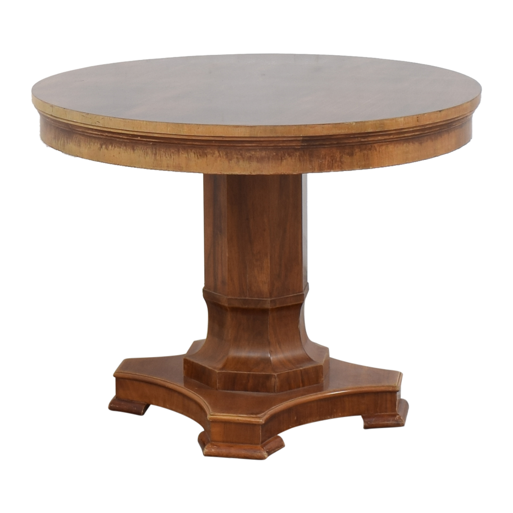 Antique Round Pedestal Table nj