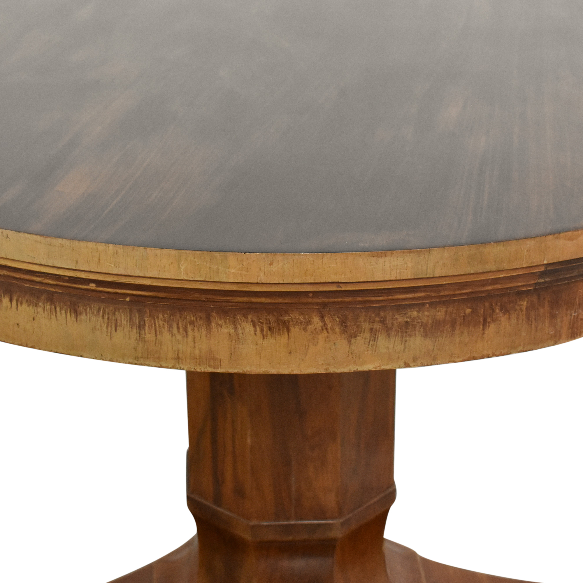 Antique Round Pedestal Table ma
