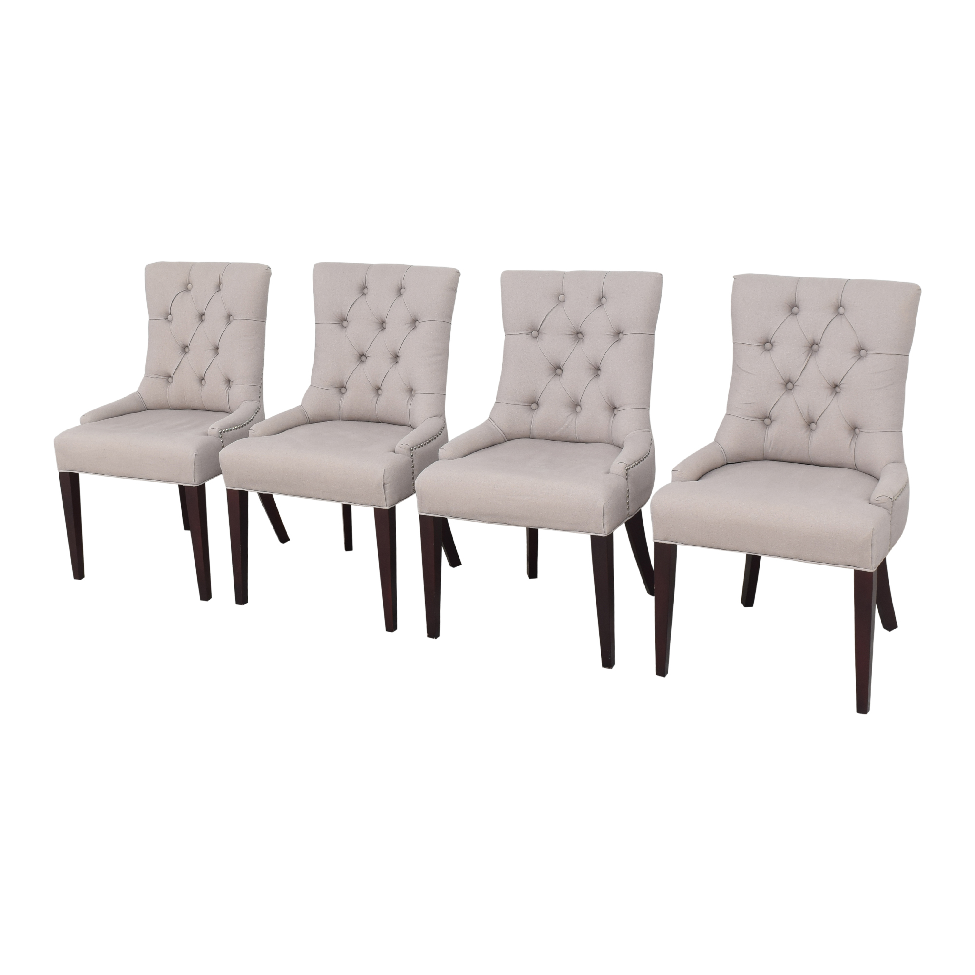 shop Safavieh Nimes Tufted Dining Chairs Safavieh Dining Chairs