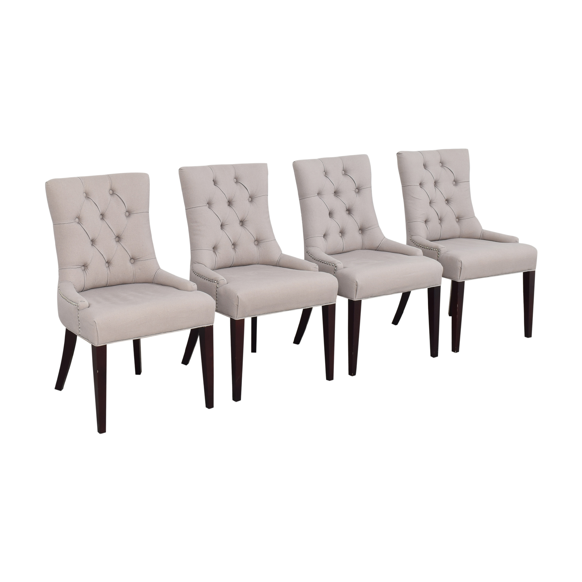 Safavieh Safavieh Nimes Tufted Dining Chairs gray and brown