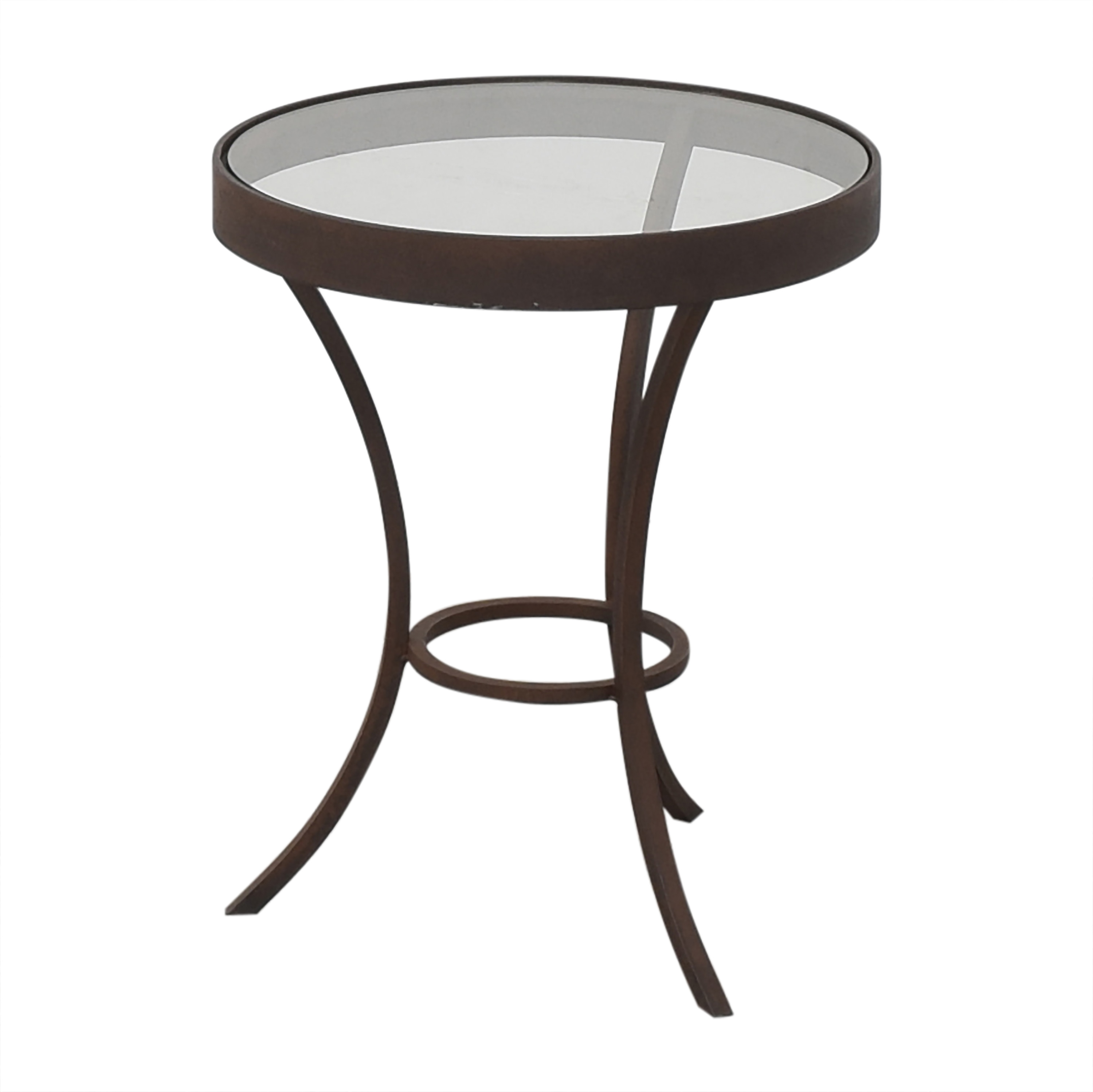 Crate & Barrel Crate & Barrel Round Side Table with Translucent Surface brown