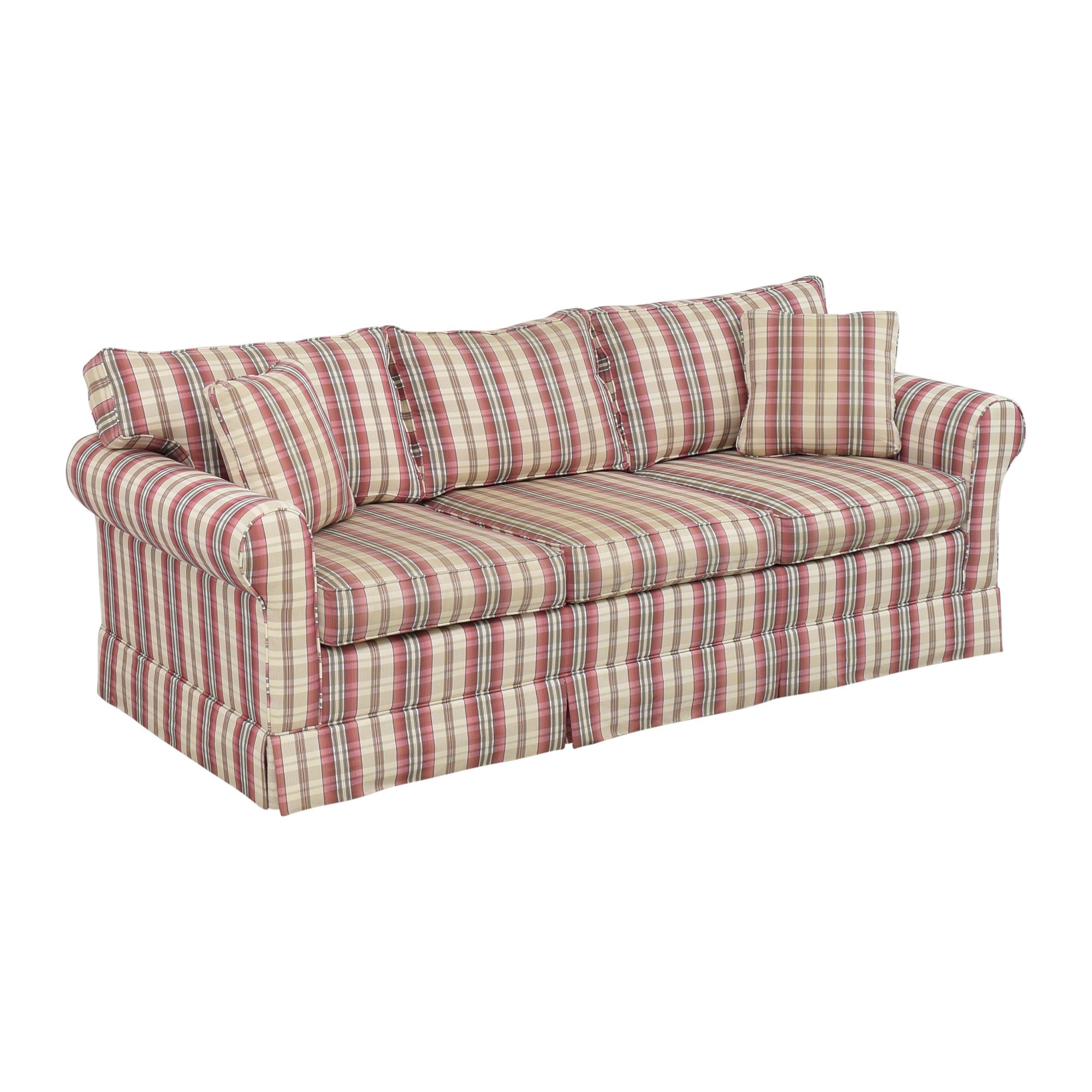Choice Seating Gallery Choice Seating Gallery Skirted Three Cushion Sofa multi colored