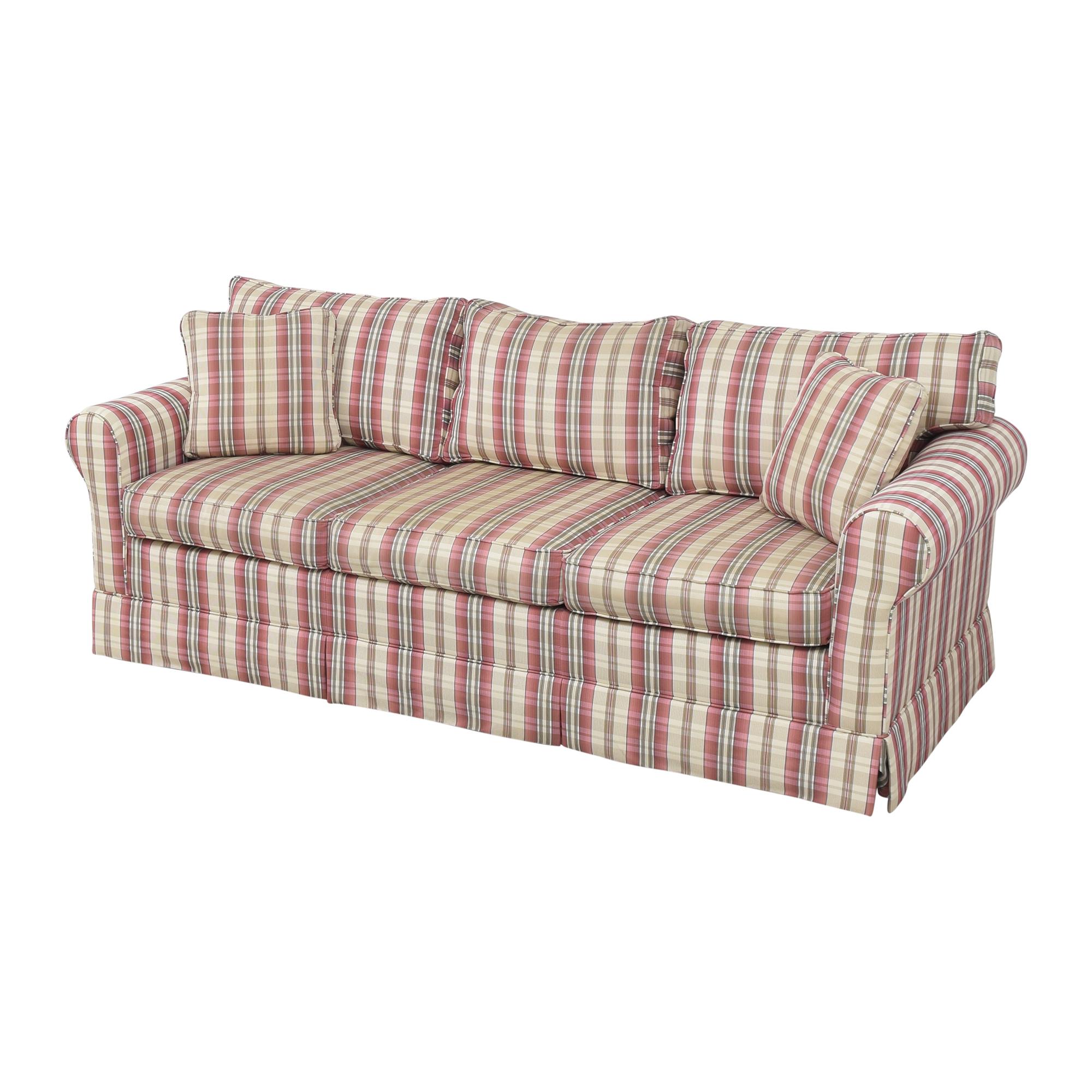 Choice Seating Gallery Skirted Three Cushion Sofa Choice Seating Gallery