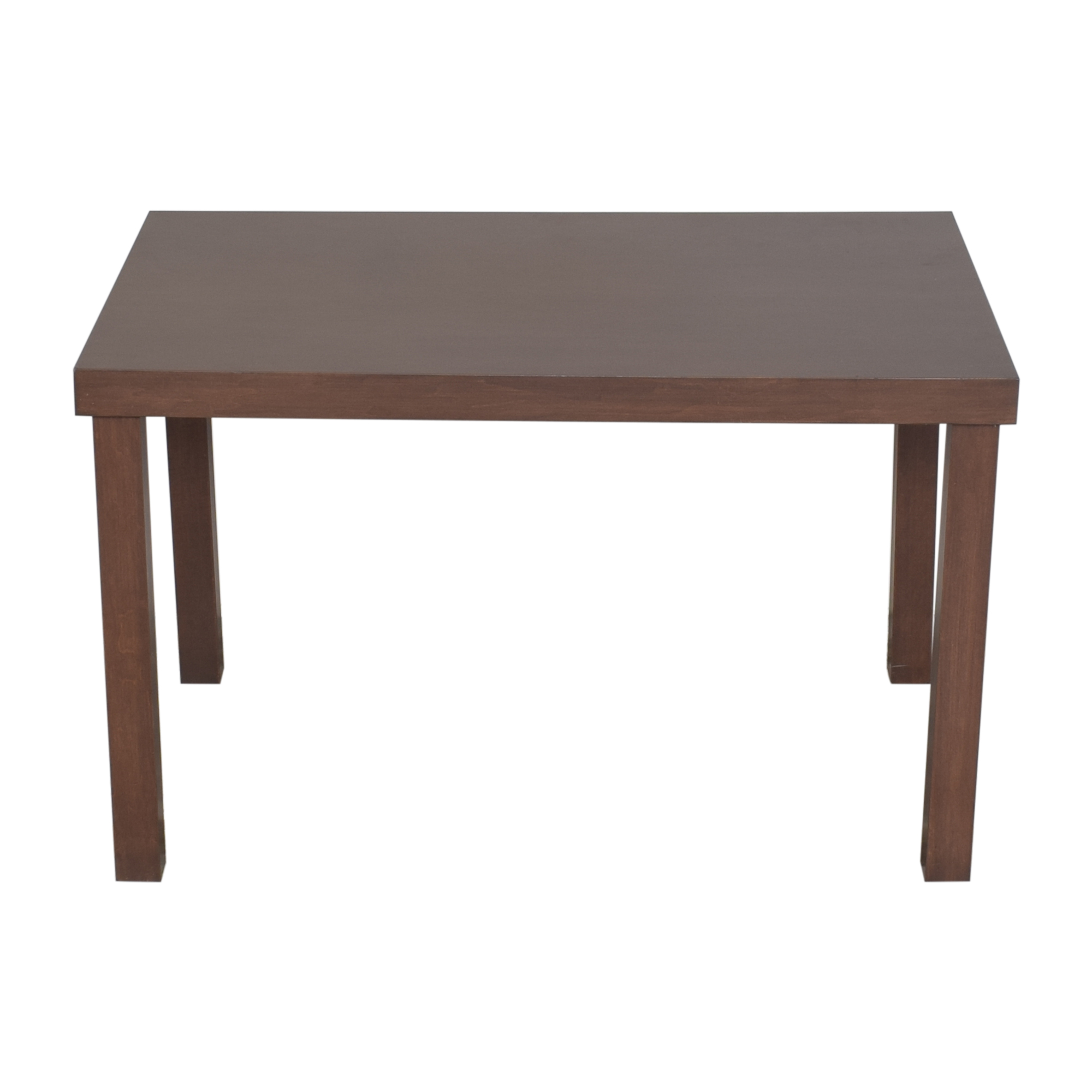 Parsons-Style Dining Table brown