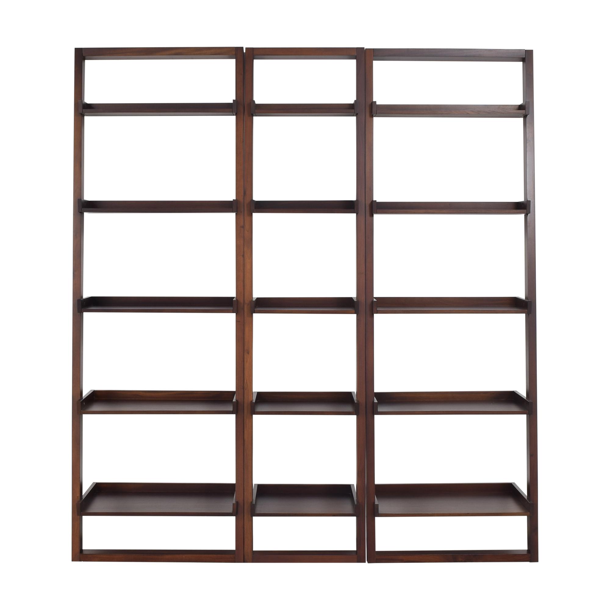 Crate & Barrel Crate & Barrel Sloan Leaning Shelves dark brown