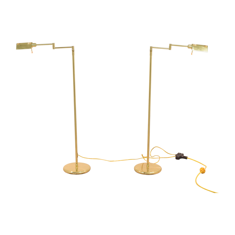Holtkotter Holtkotter Swing Arm Pharmacy Floor Lamps ct