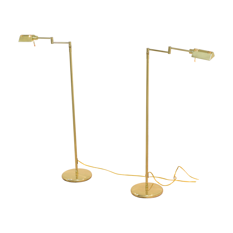 Holtkotter Holtkotter Swing Arm Pharmacy Floor Lamps