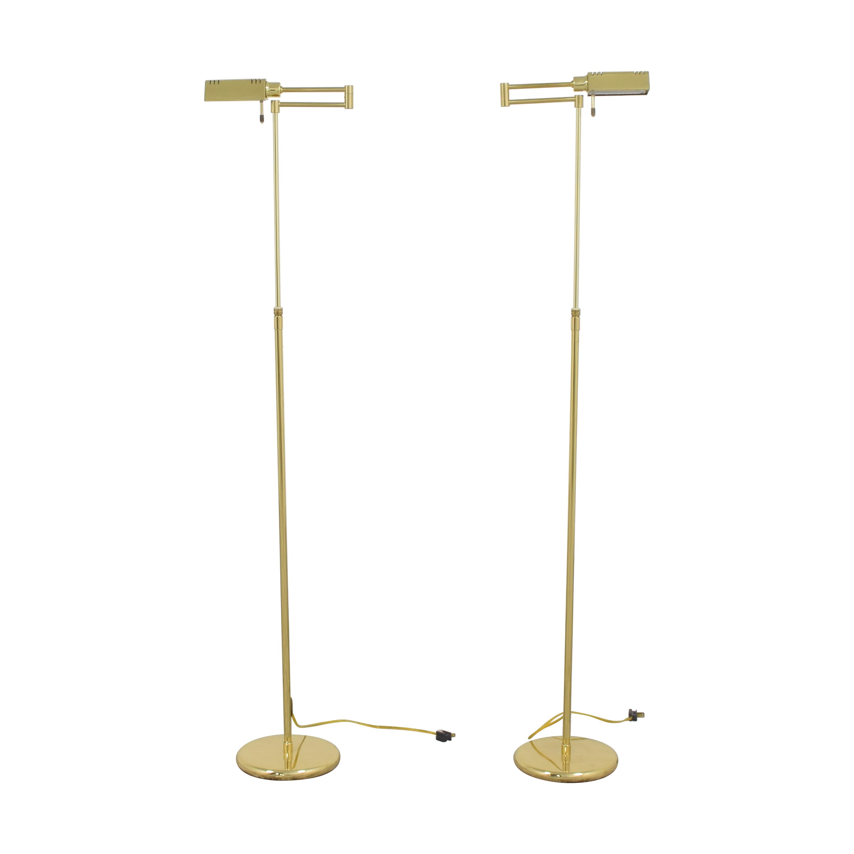 Holtkotter Holtkotter Swing Arm Pharmacy Floor Lamps Decor