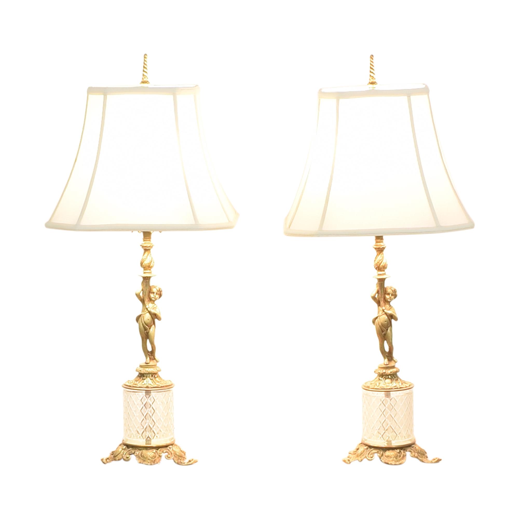 Cherub Table Lamps ct