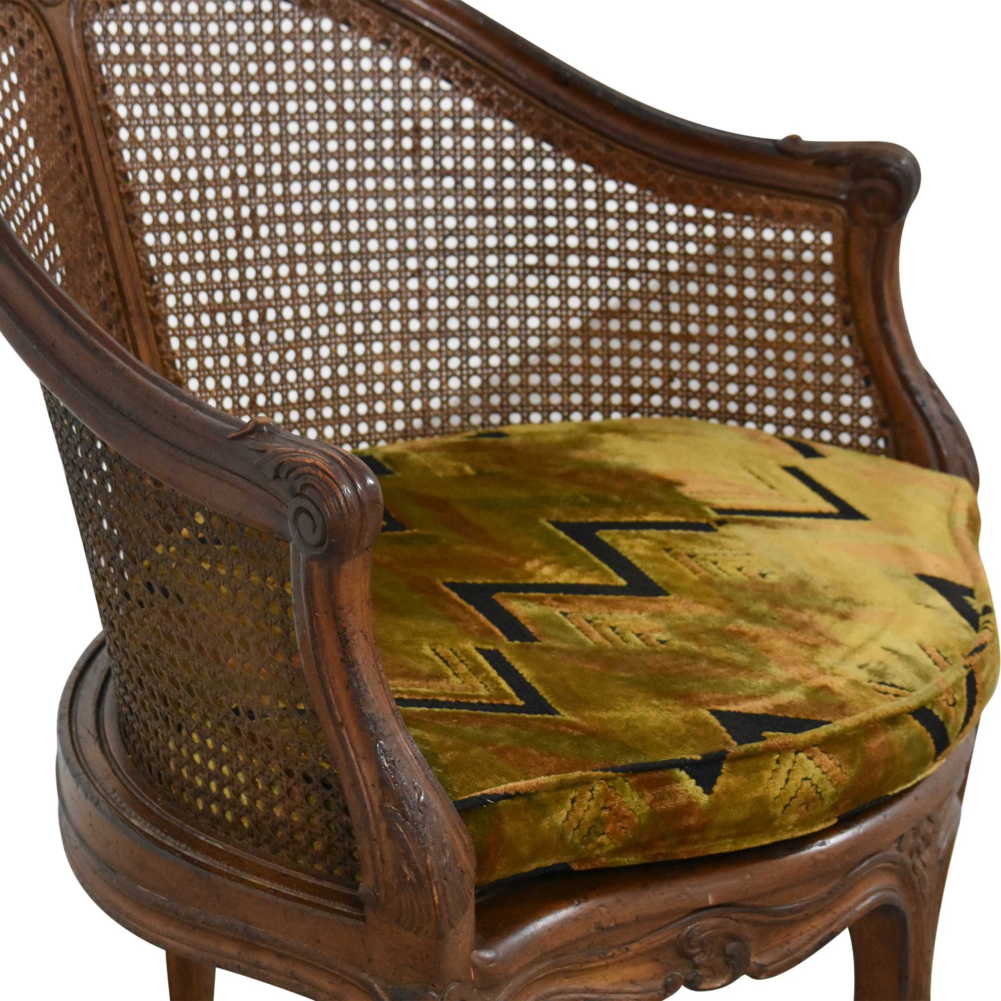 Vintage French-Style Corner Chair Accent Chairs